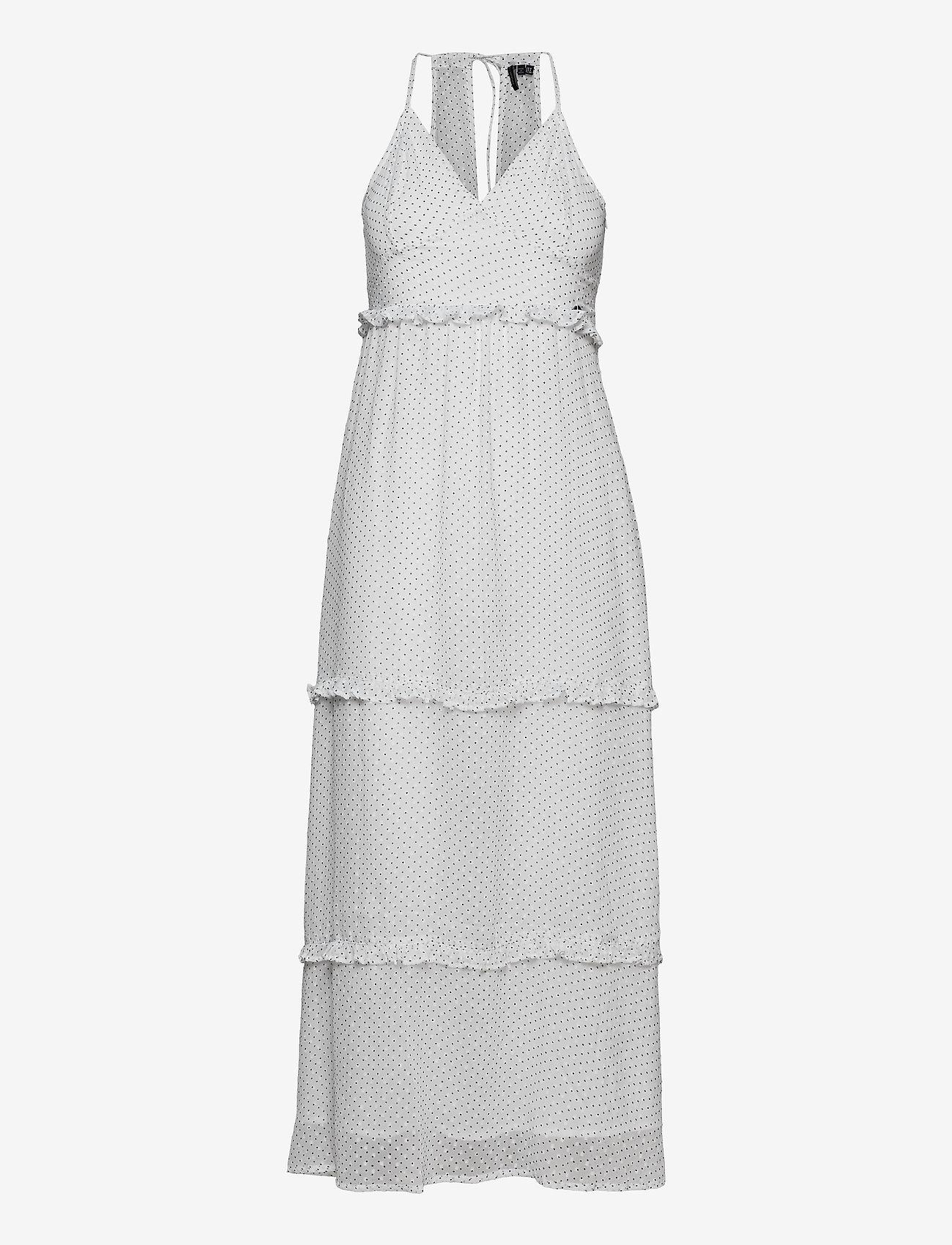 Superdry - MARGAUX MAXI DRESS - kveldskjoler - white polka dot - 0