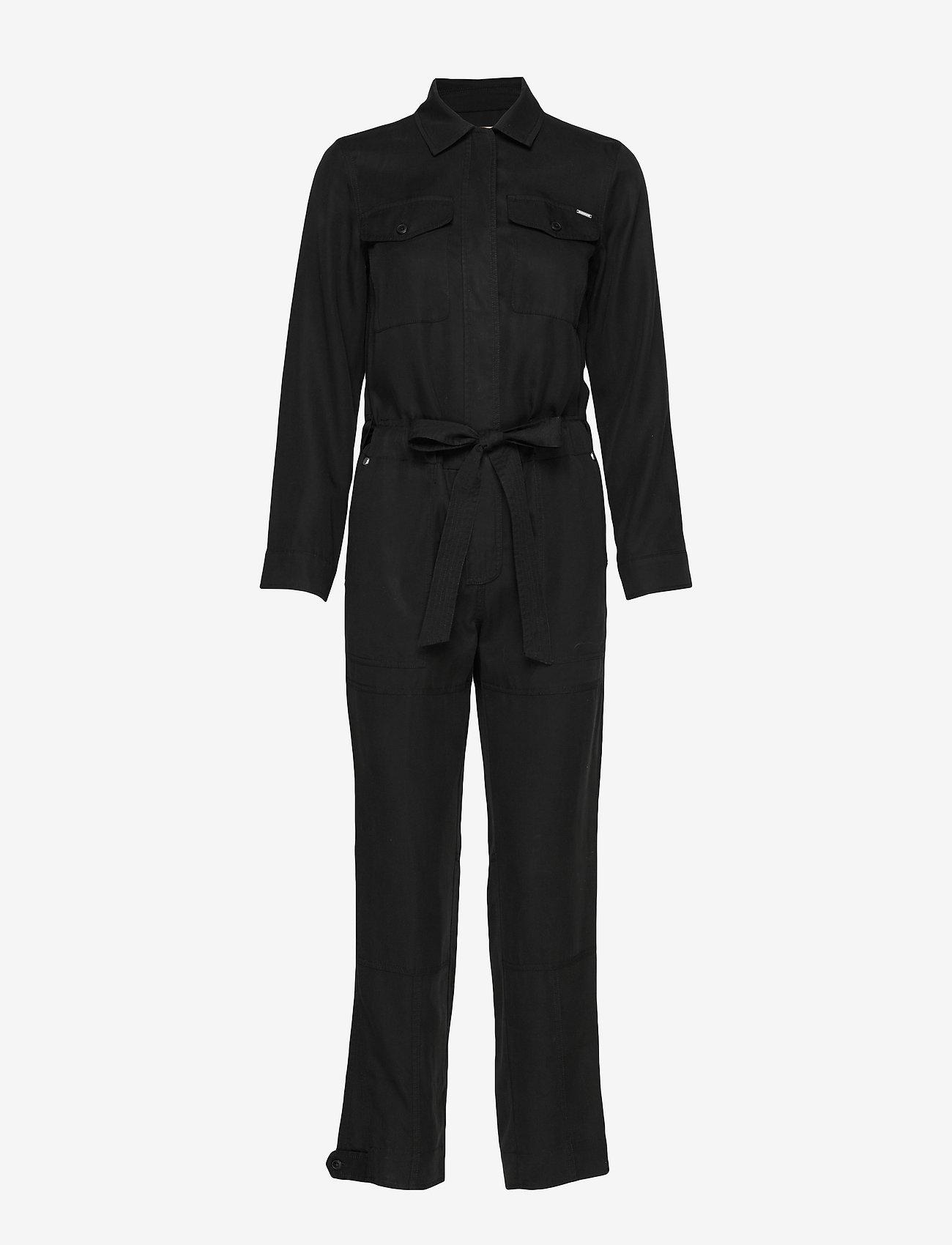Superdry - DESERT MILITARY JUMPSUIT - jumpsuits - black - 0