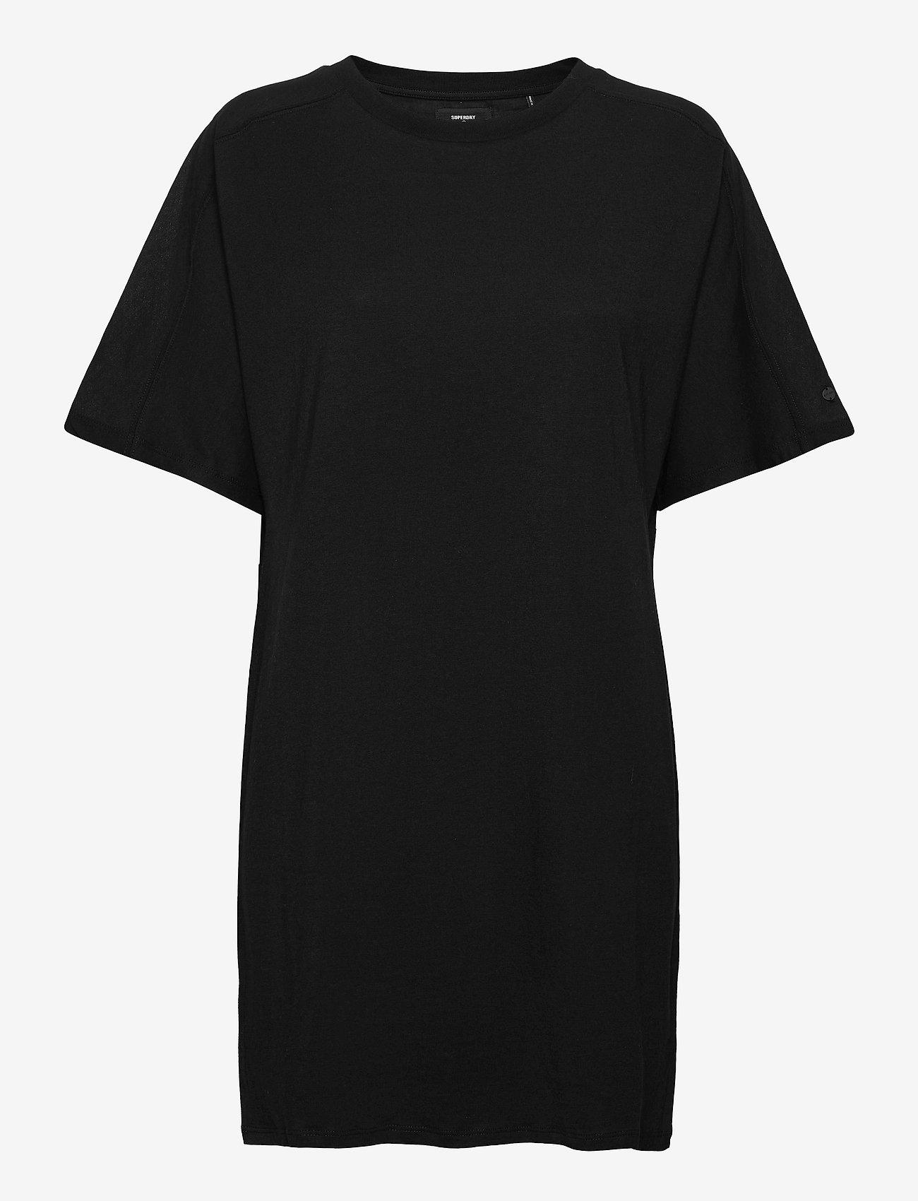Superdry - COTTON MODAL TSHIRT DRESS - summer dresses - black - 0