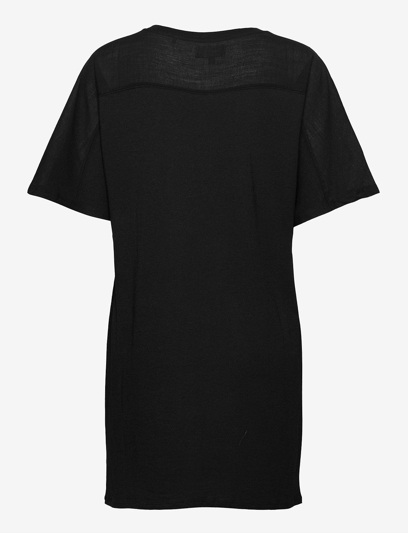 Superdry - COTTON MODAL TSHIRT DRESS - summer dresses - black - 1