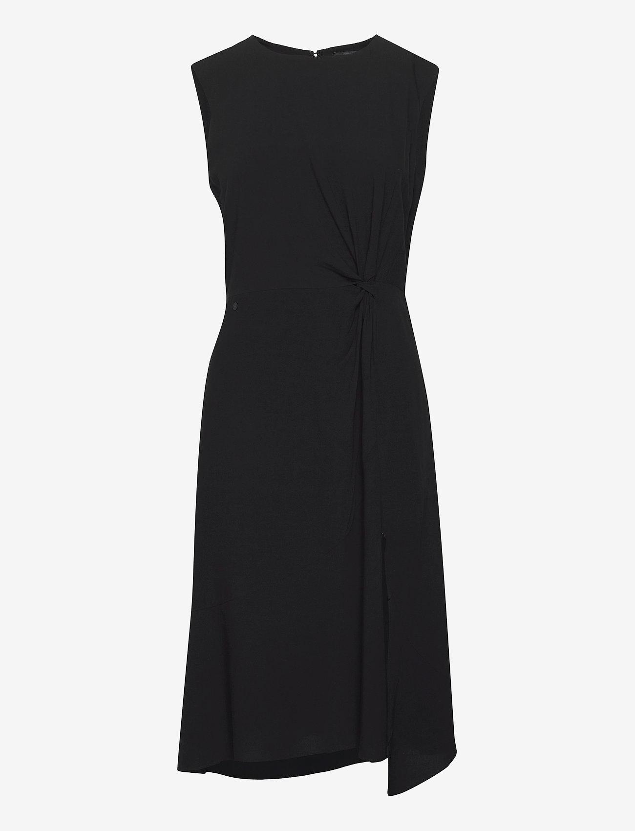 Superdry - ECOVERO TWIST DRESS - summer dresses - black - 0