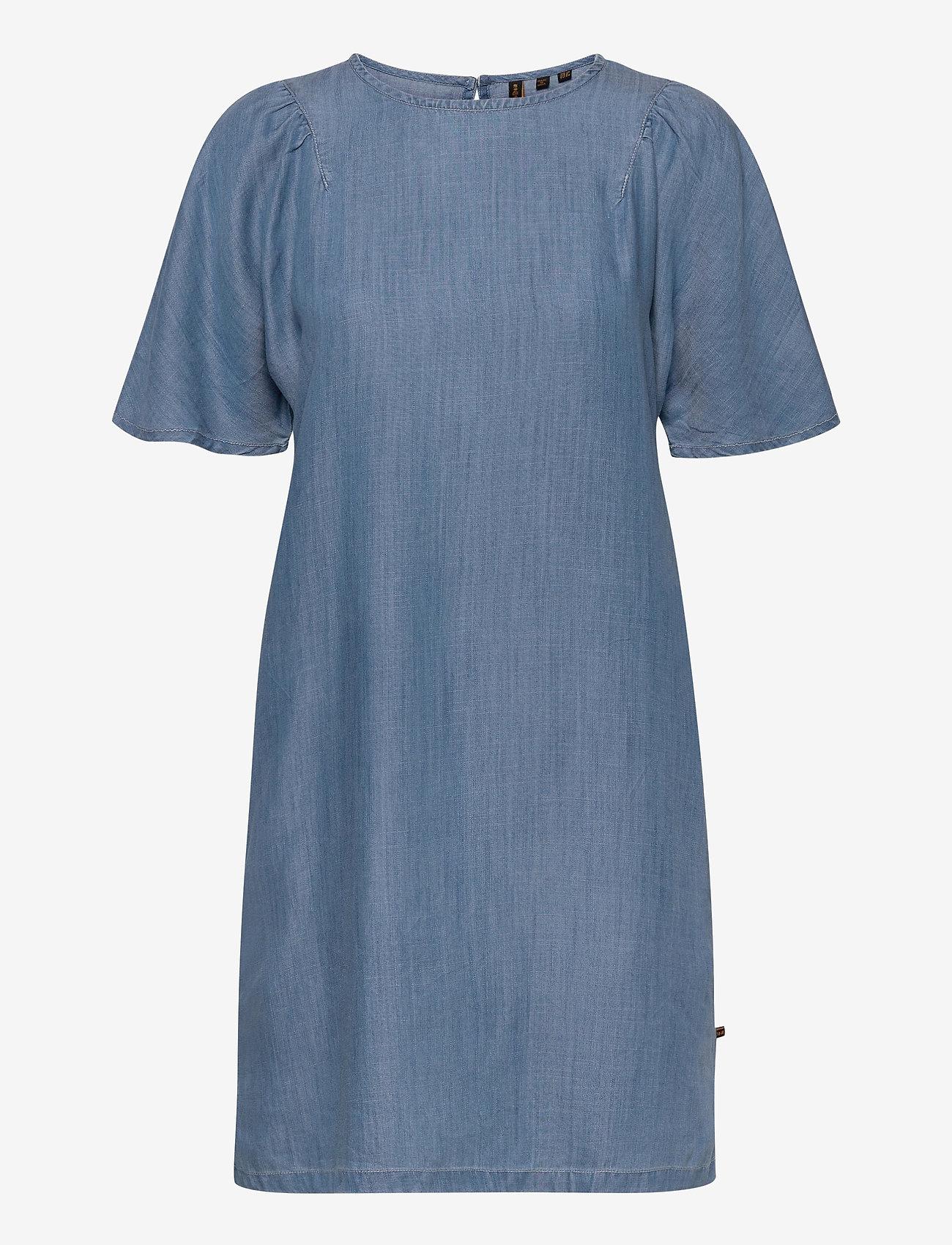 Superdry - TENCEL TSHIRT DRESS - midi dresses - light wash - 0