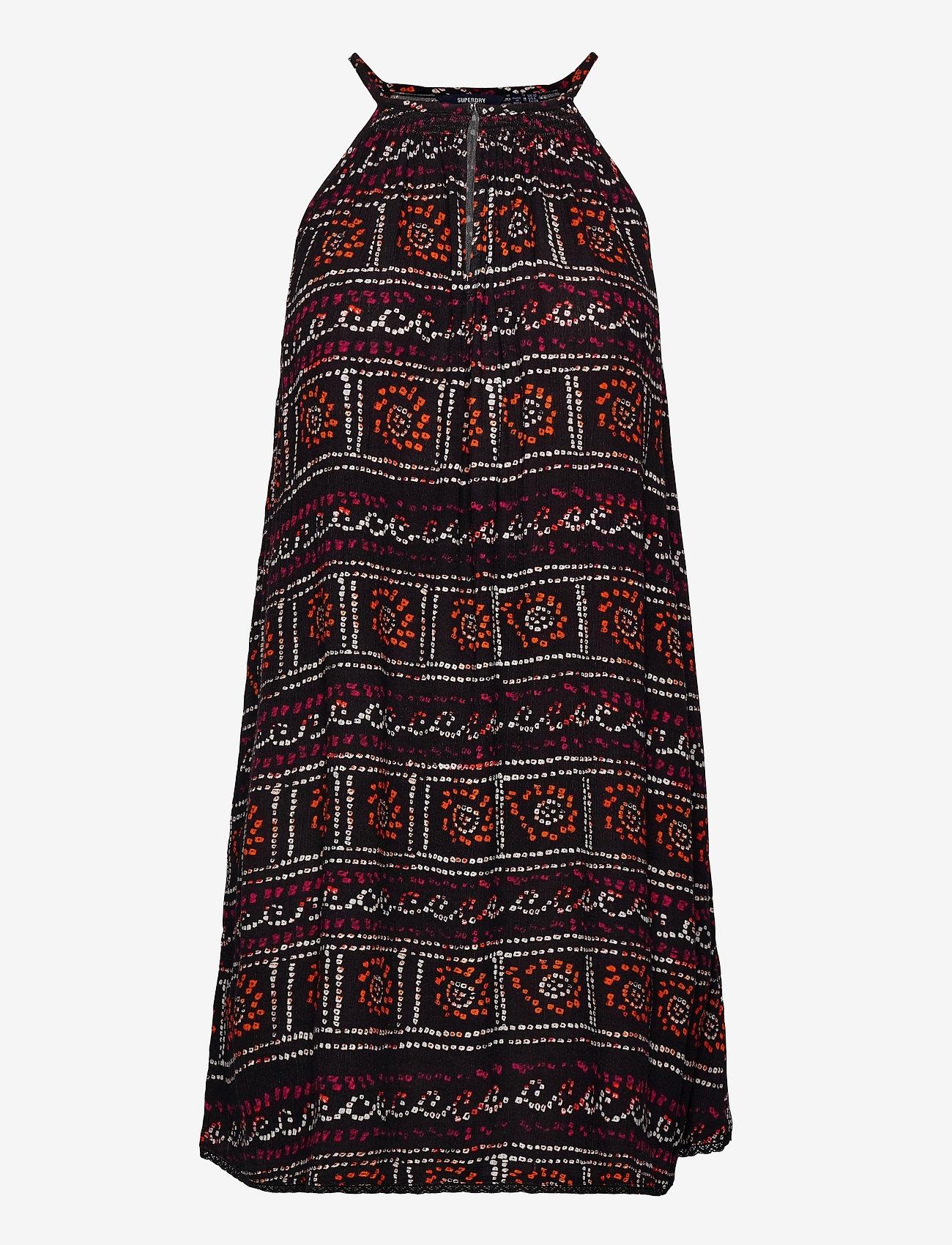 Superdry - BEACH CAMI DRESS - beachwear - black tie dye - 0
