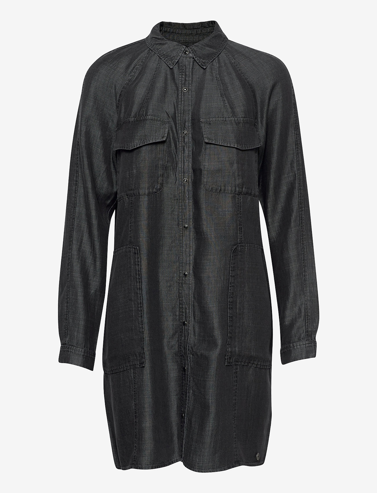 Superdry - TENCEL OVERSIZED SHIRT DRESS - everyday dresses - black wash - 0