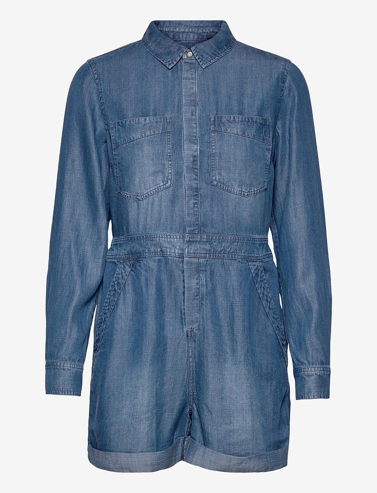 Superdry - TENCEL PLAYSUIT - clothing - mid wash - 0