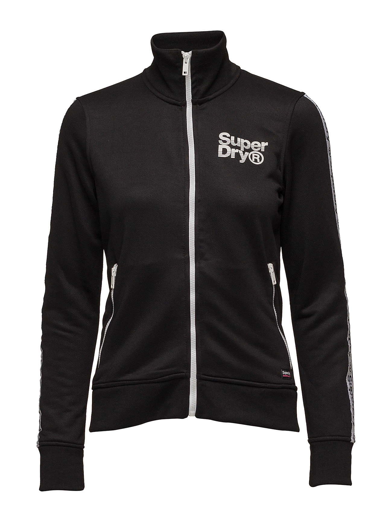 Superdry FASHION FITNESS TRIC TRACK TOP - BLACK
