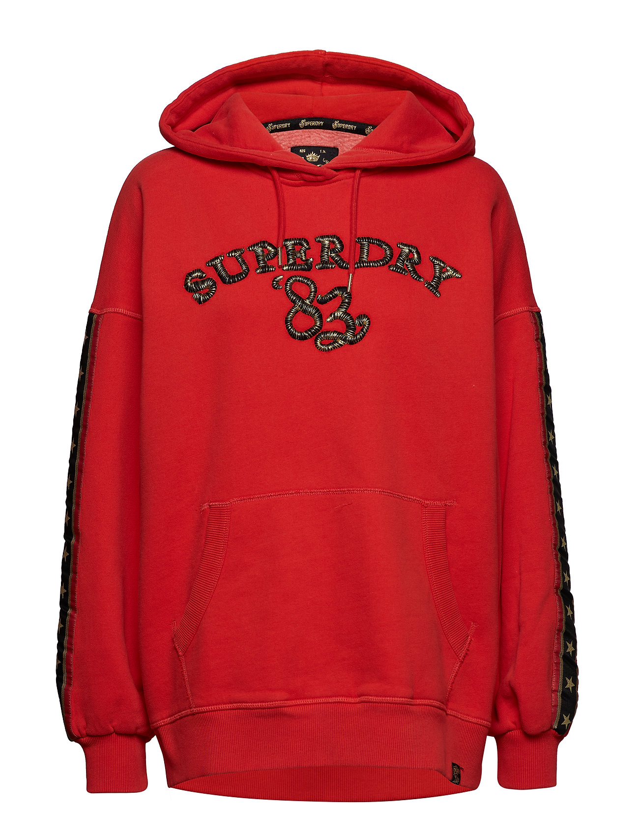 Superdry ROCK ROYALTY OS HOOD - ROYALTY RED