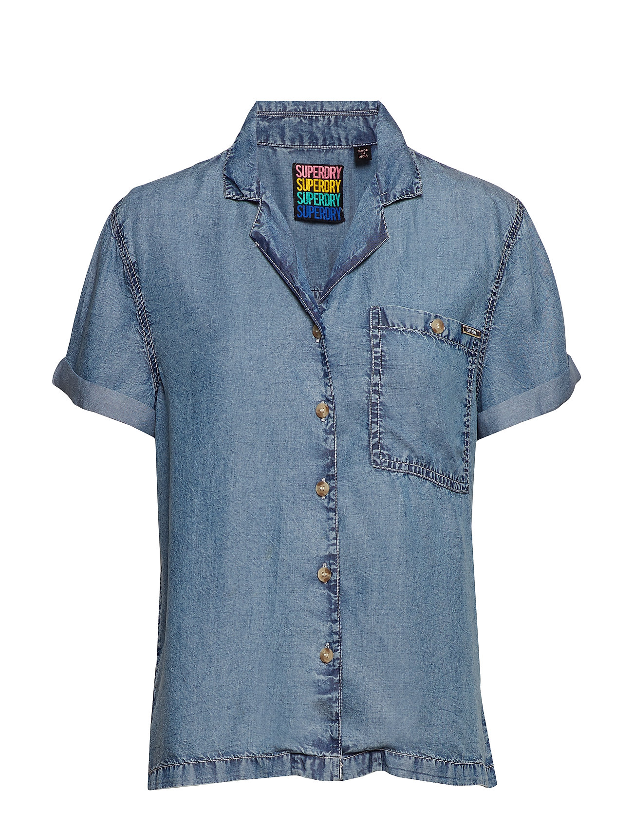 Superdry RIVA SHIRT - LIGHT BLUE WASH