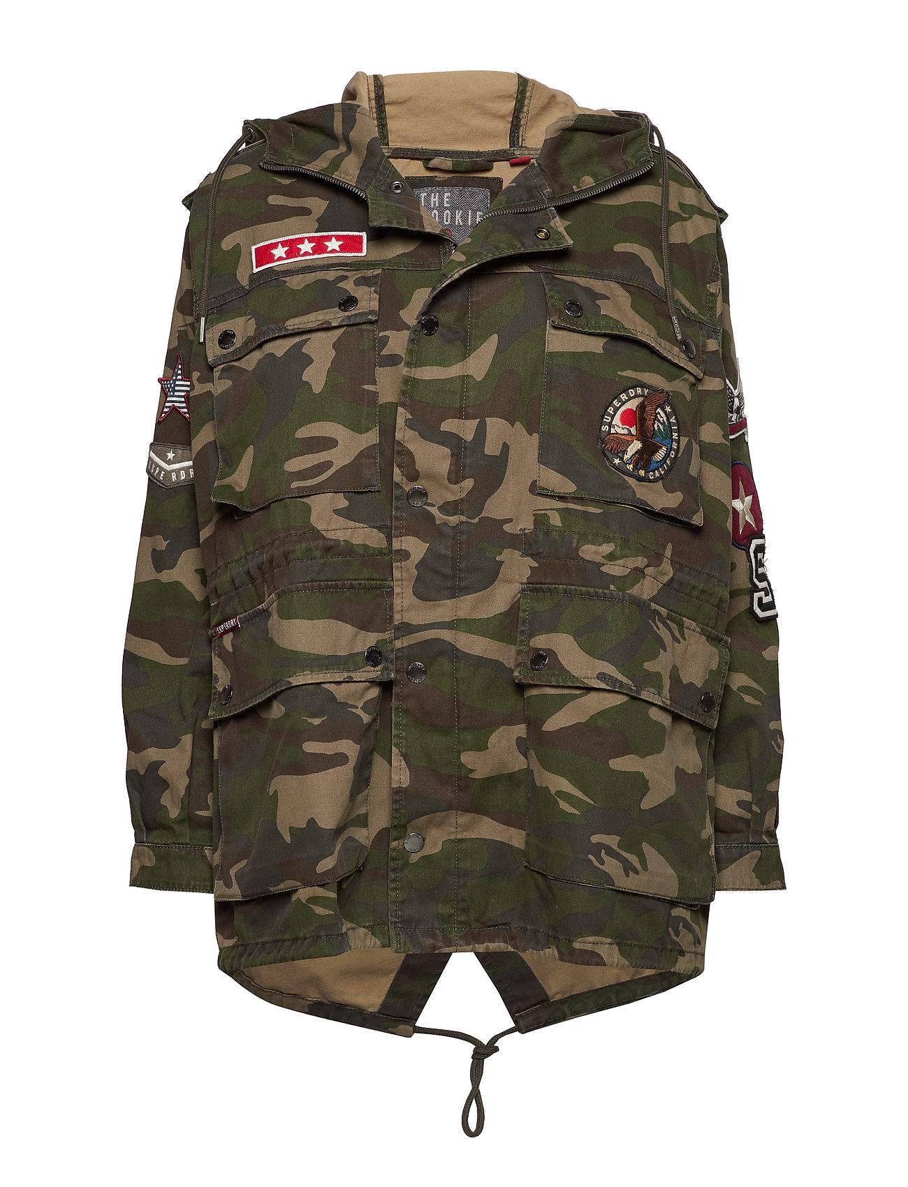 Superdry ROOKIE OVERSIZED PARKA - CAMO PATCHED