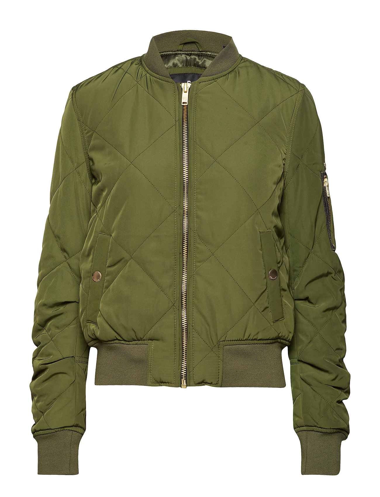 Superdry QUILTED UTILITY BOMBER - KHAKI/BLACK
