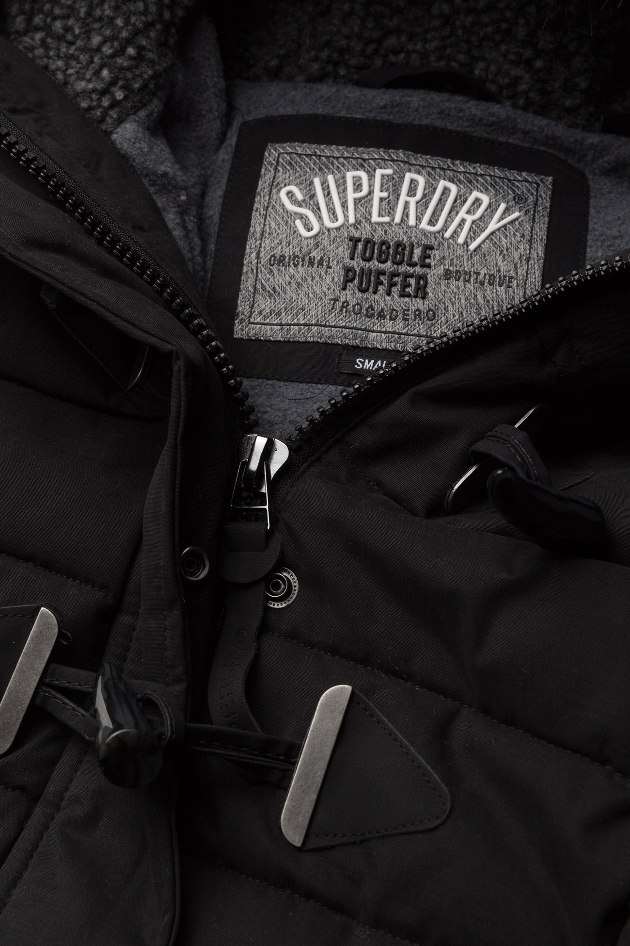 Superdry Mf Tall Toggle Puffle Jacket - Jackor & Kappor Black