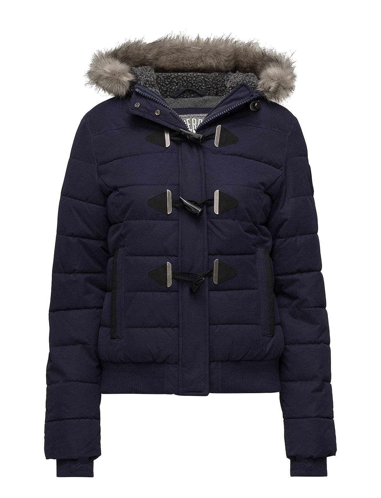 Superdry MICROFBRE TOGGLE PUFFLE JACKET - NAVY
