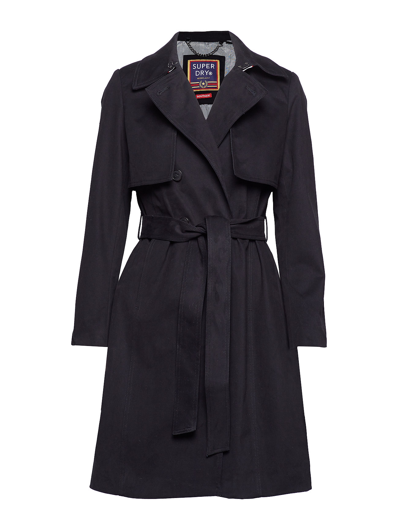 Superdry SIRENA TRENCH - BLACK