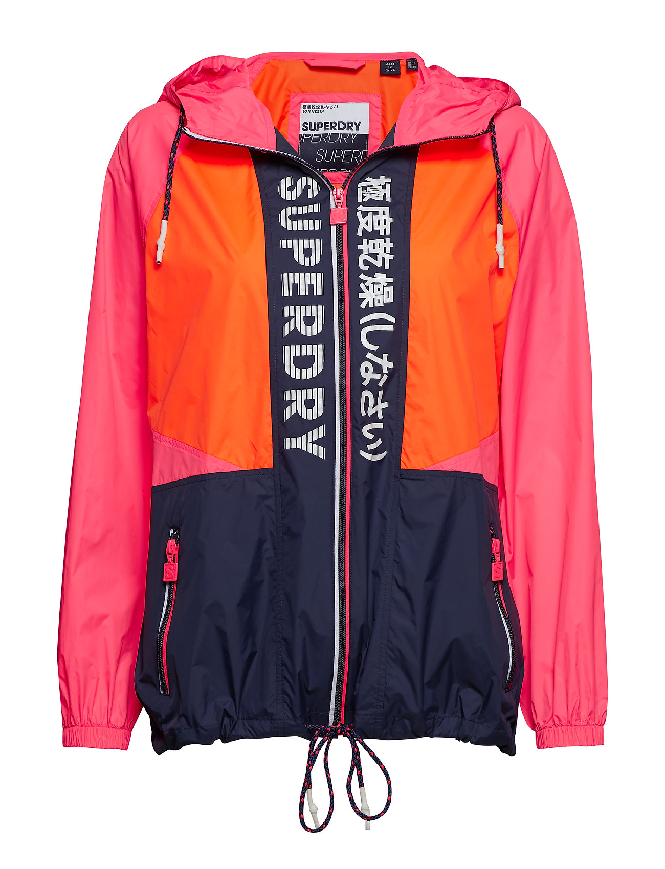 Superdry SPLICED WINDBREAKER - PINK/ORANGE/NAVY