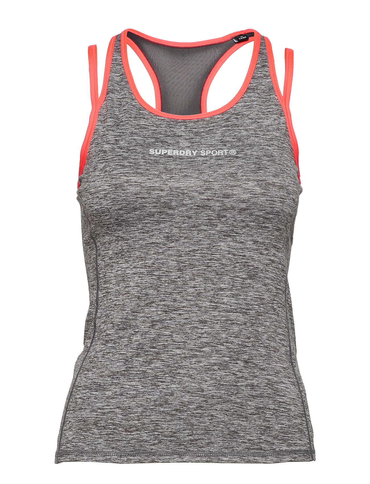 Superdry SUPERDRY GYM DUO STRAP VEST - CHARCOAL GRIT
