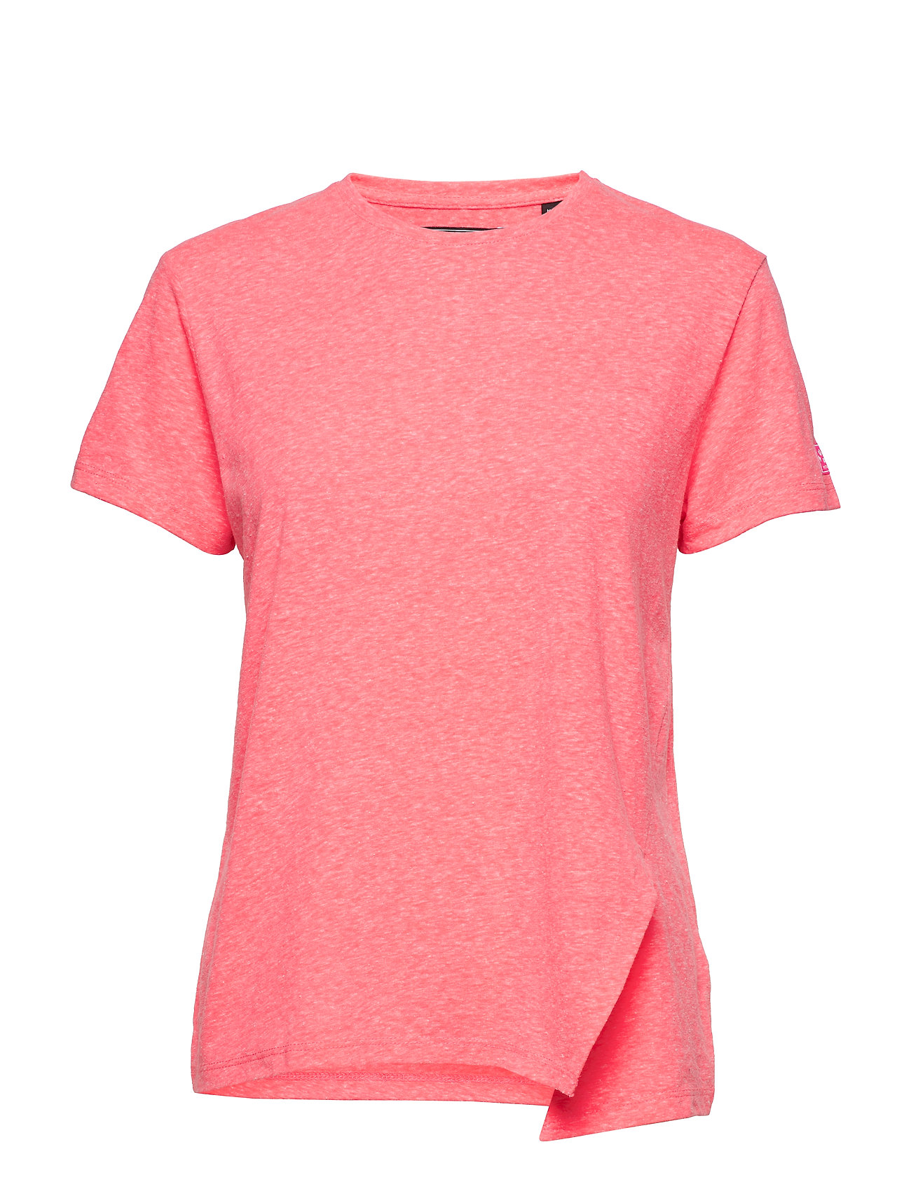 Superdry KNOT BURNOUT TEE - FLURO PINK
