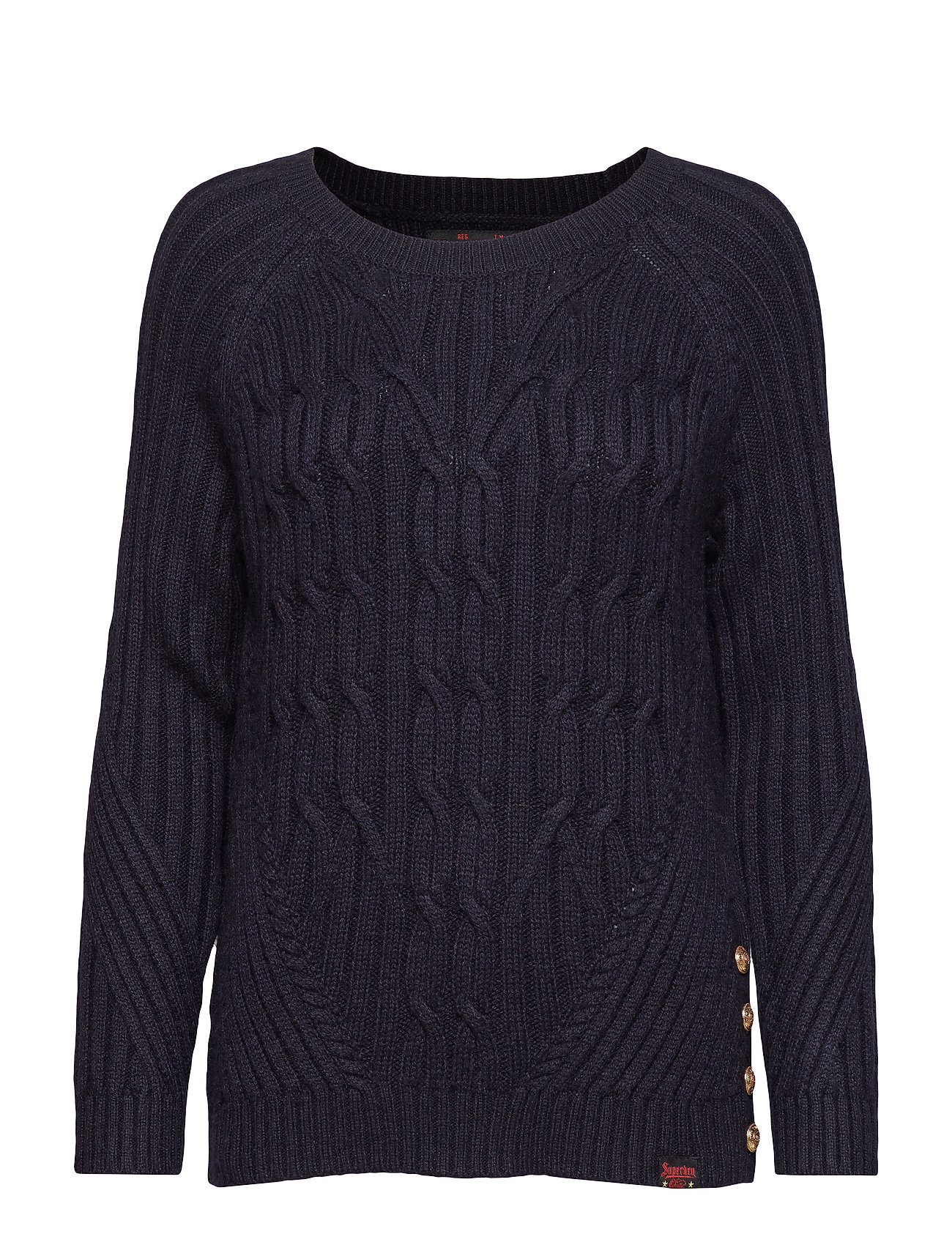 Superdry HESTER CABLE JUMPER - MARINA NAVY