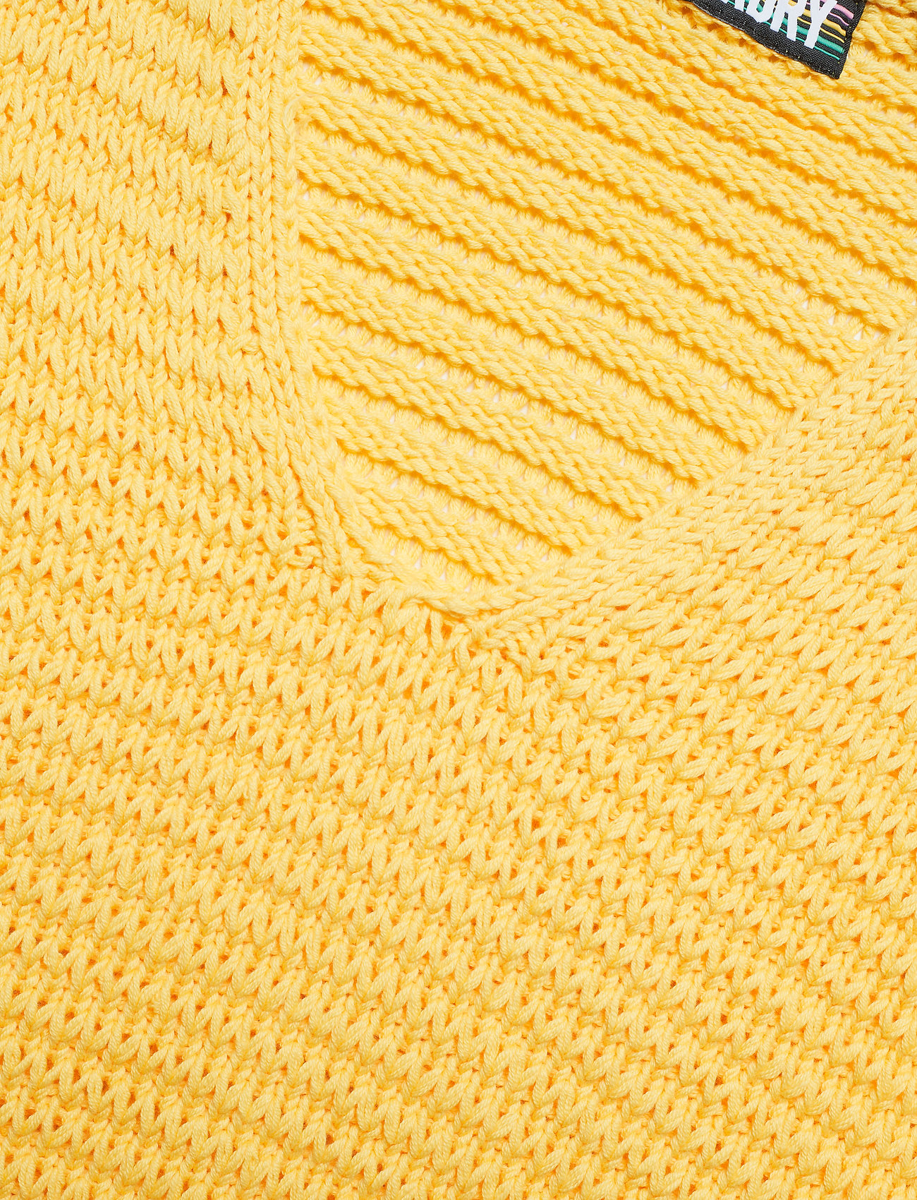 Superdry ELOISE TEXTURED OPEN KNIT - Dzianina SUNSHINE YELLOW - Kobiety Odzież.