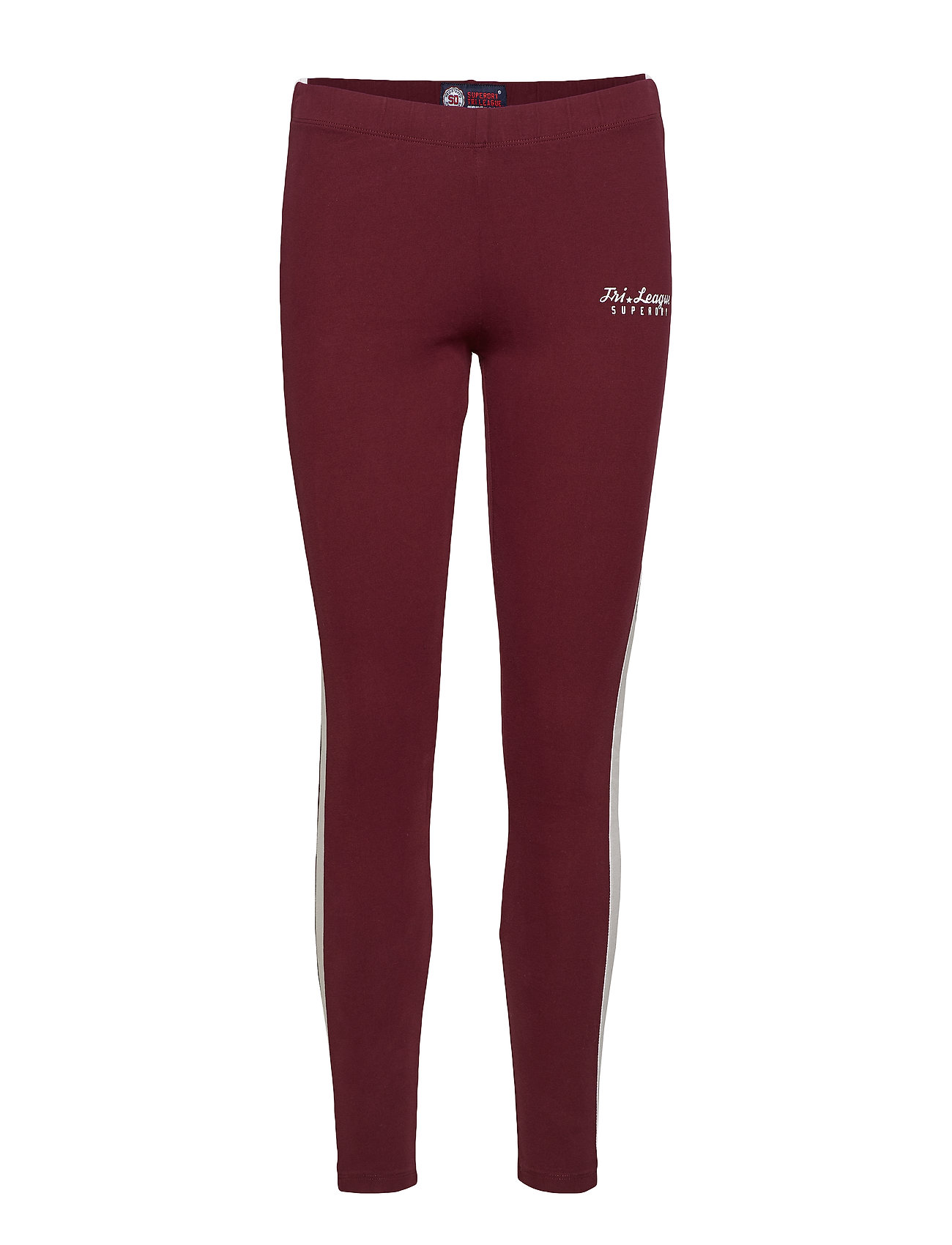 Superdry TRI LEAGUE GRAPHIC LEGGING - TRI BURGUNDY