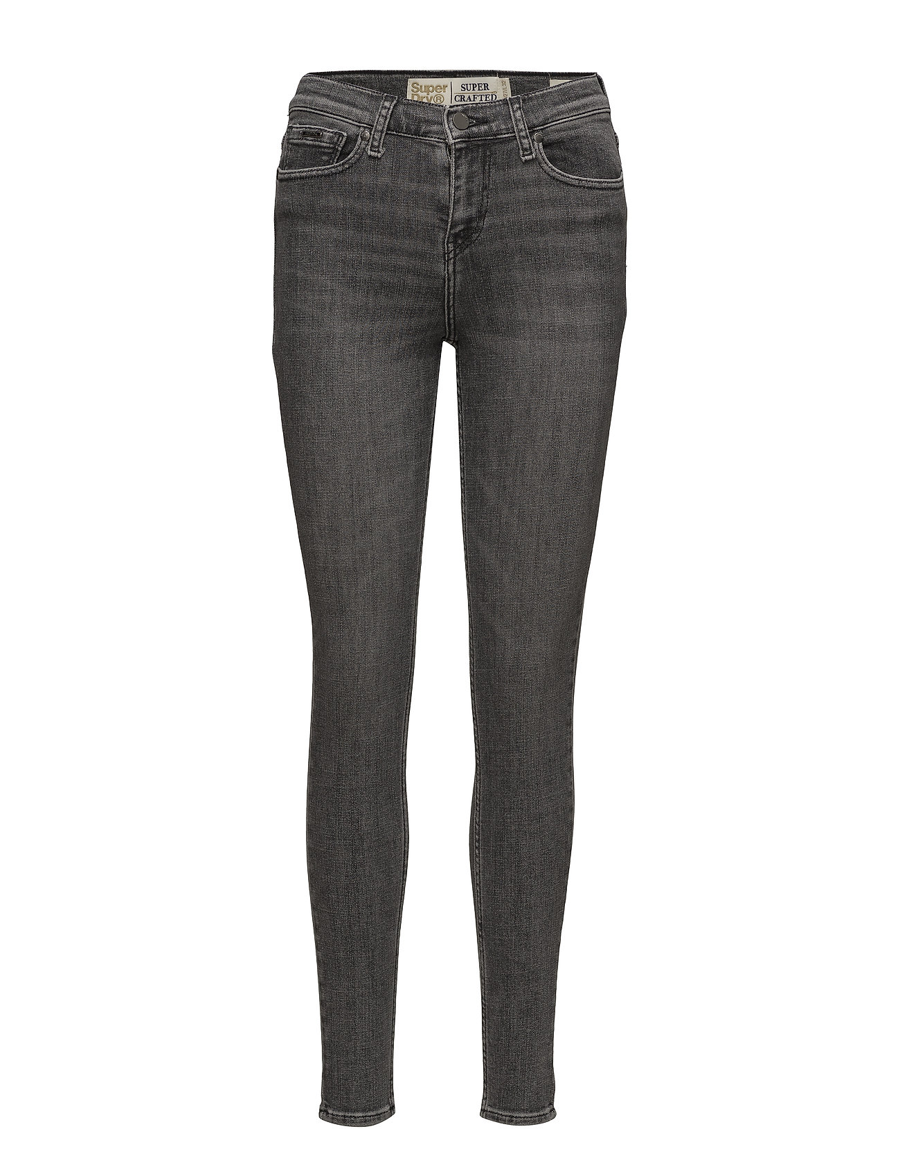 Super Crafted- Skinny Mid Rise (Grey Nero) (£41.99) - Superdry ... e55a23046d2