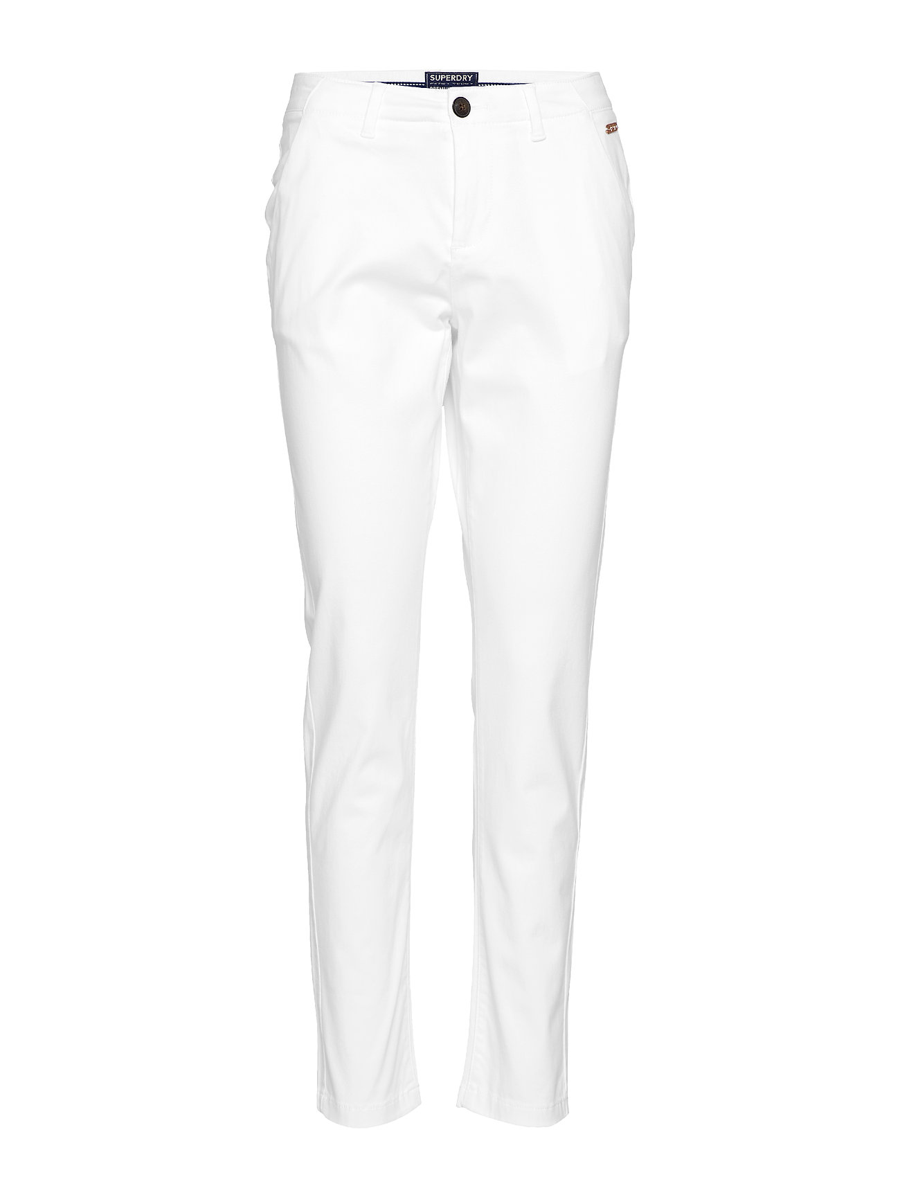 Superdry CITY CHINO PANT - OPTIC WHITE