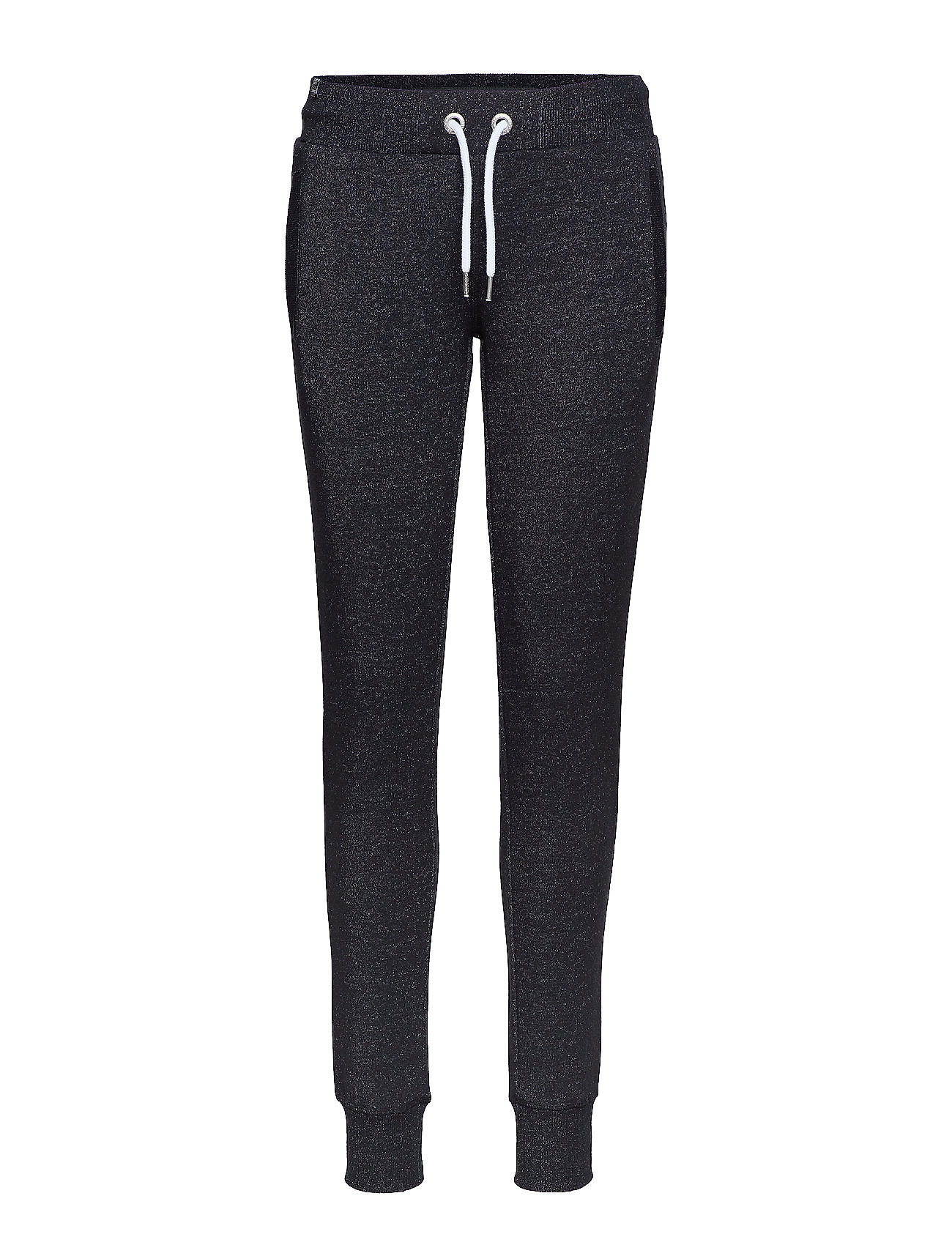 Superdry O L LUXE SLIM JOGGER - BLACK SPARKLE