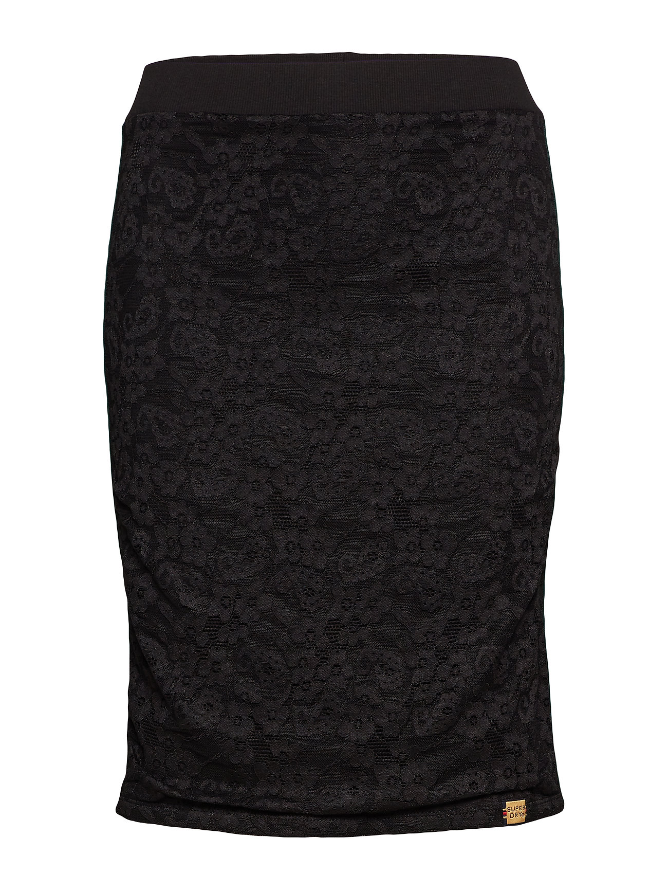 Superdry BLAKE LACE MIDI SKIRT - BLACK LACE