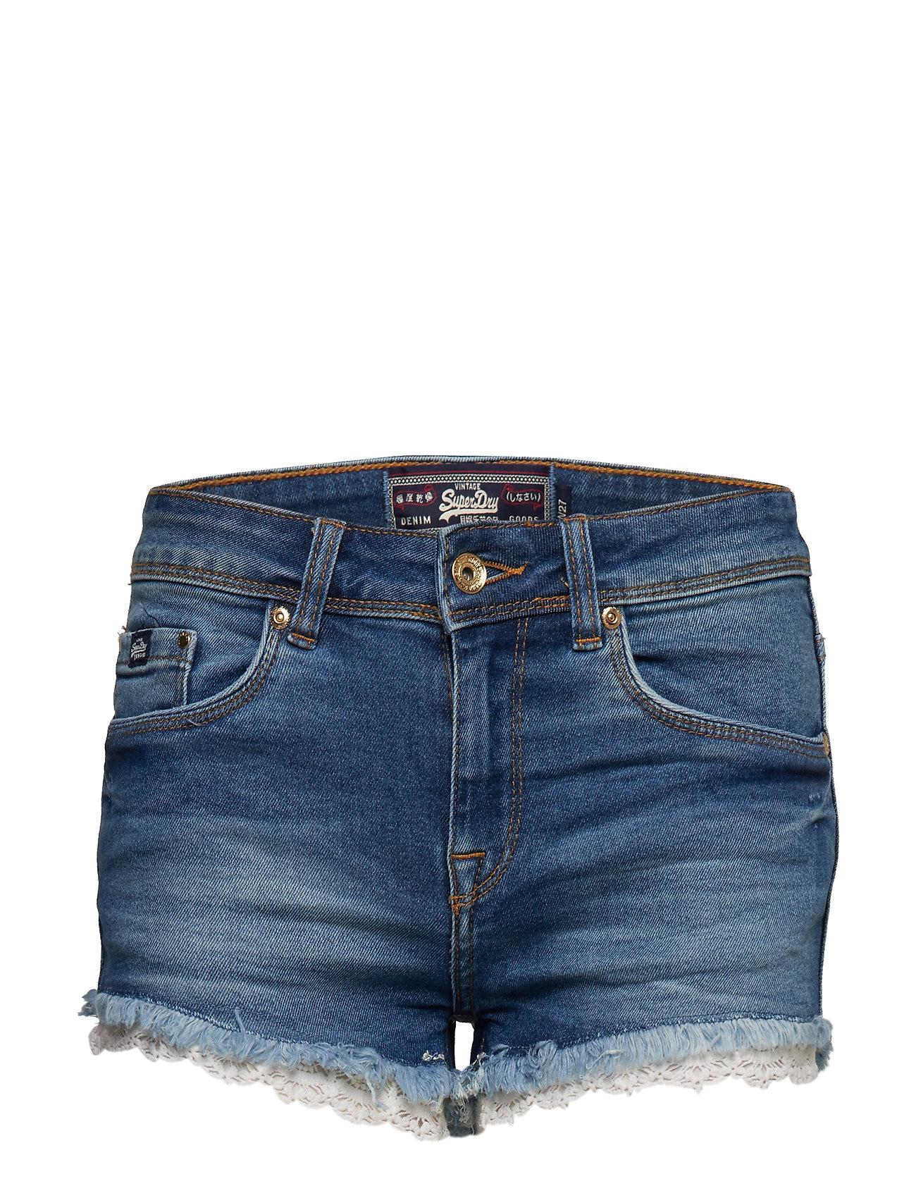 Superdry DENIM LACE HOT SHORT Shorts