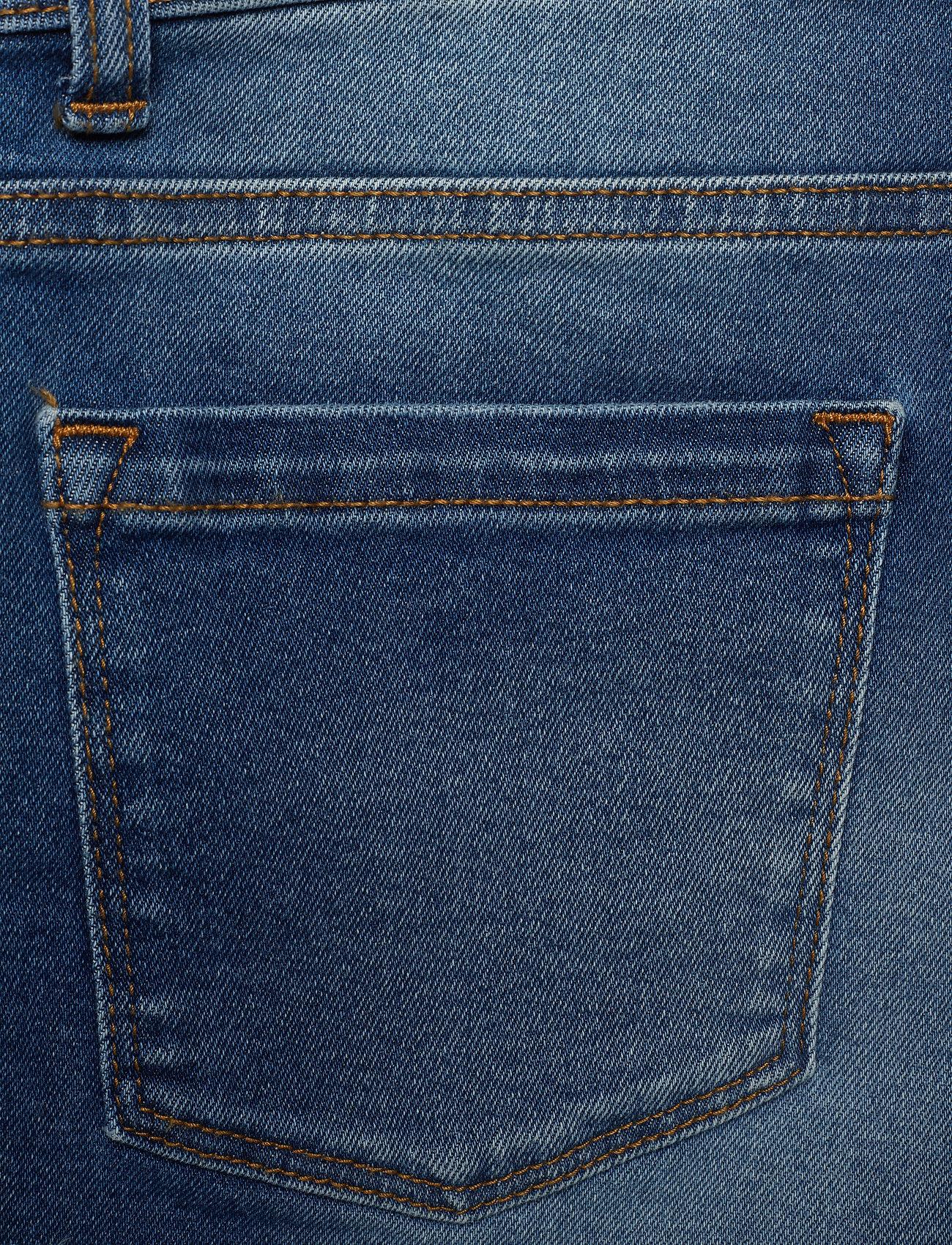 Superdry DENIM LACE HOT SHORT - Szorty POOL BLUE LACE - Kobiety Odzież.