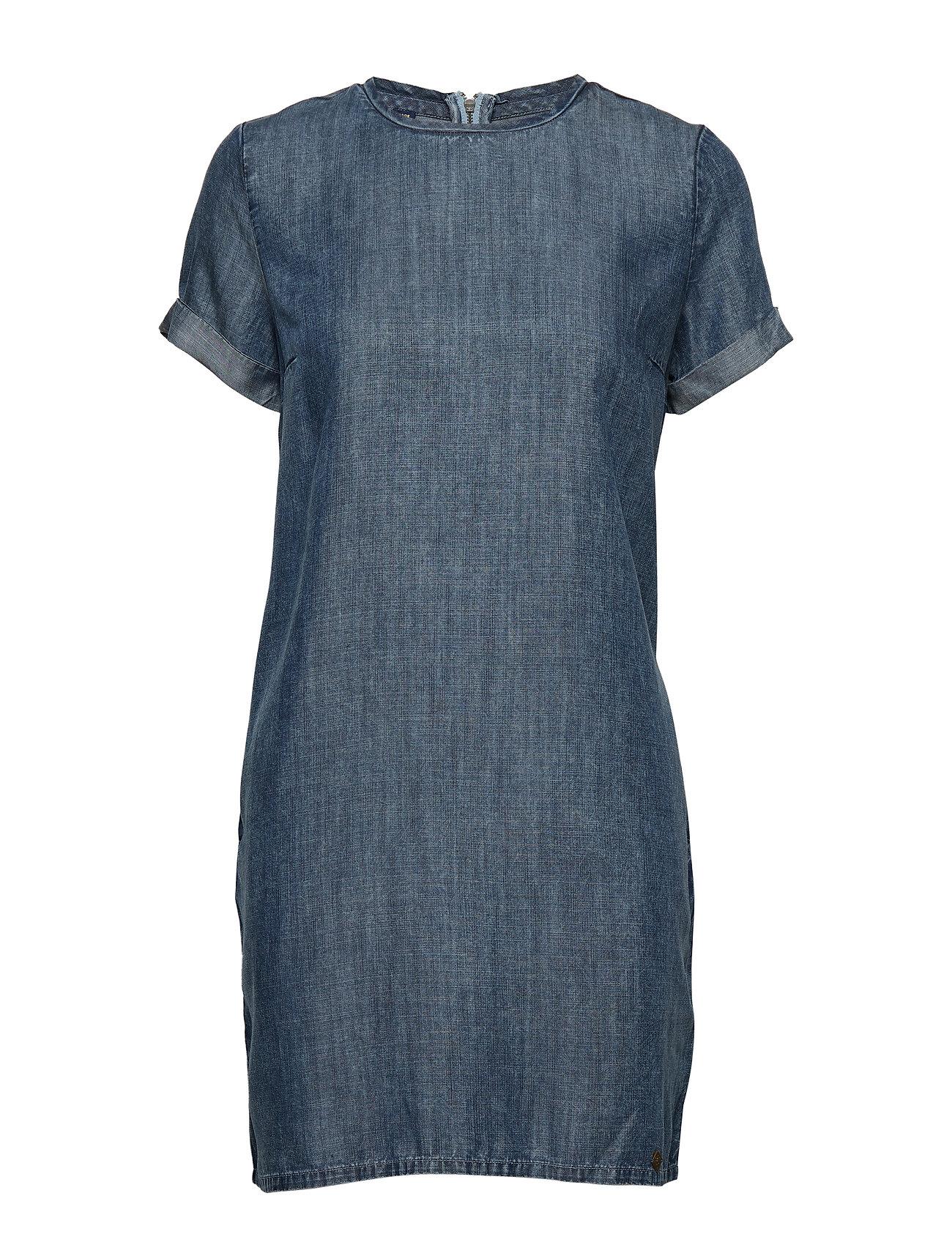 Superdry SHAY TEE DRESS - BLUE ACID WASH