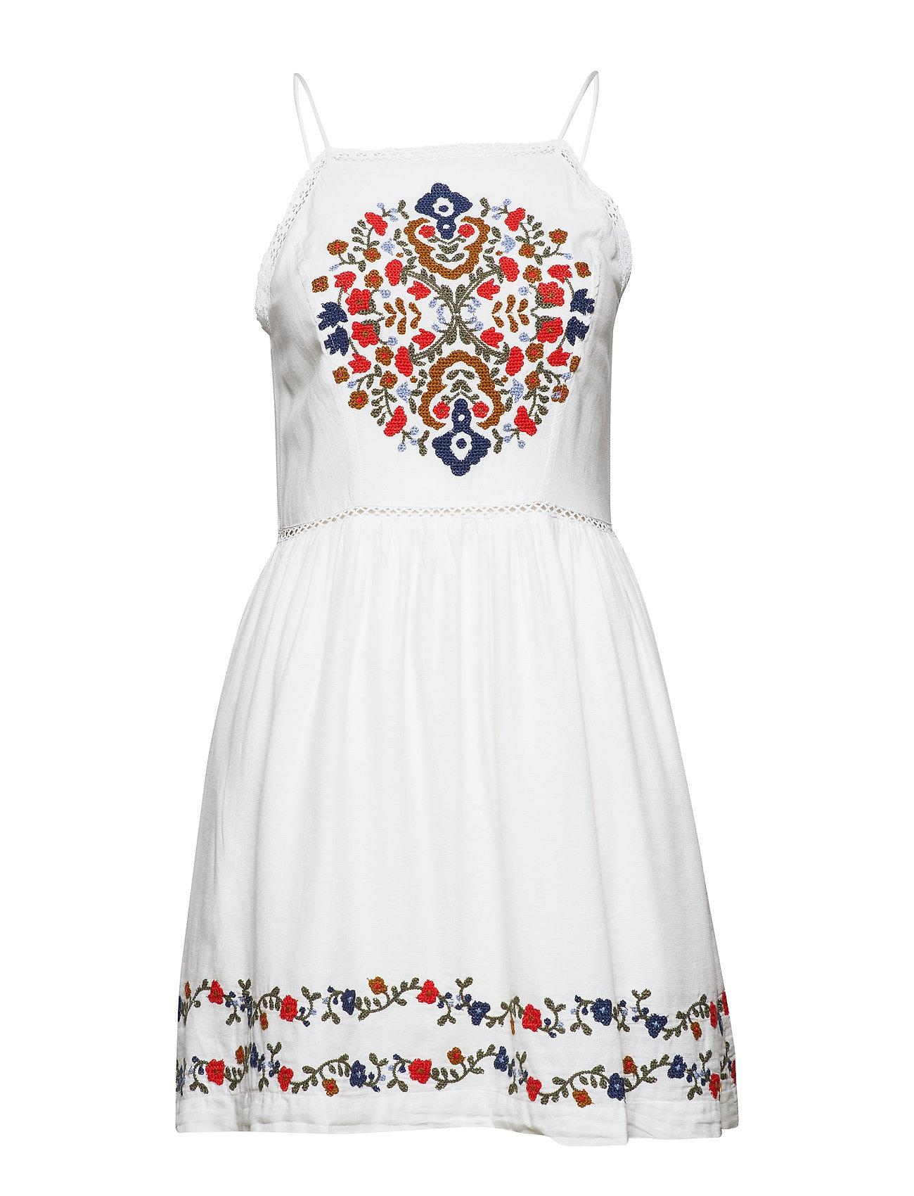 Superdry KATALINA APRON DRESS - WHITE MULTI