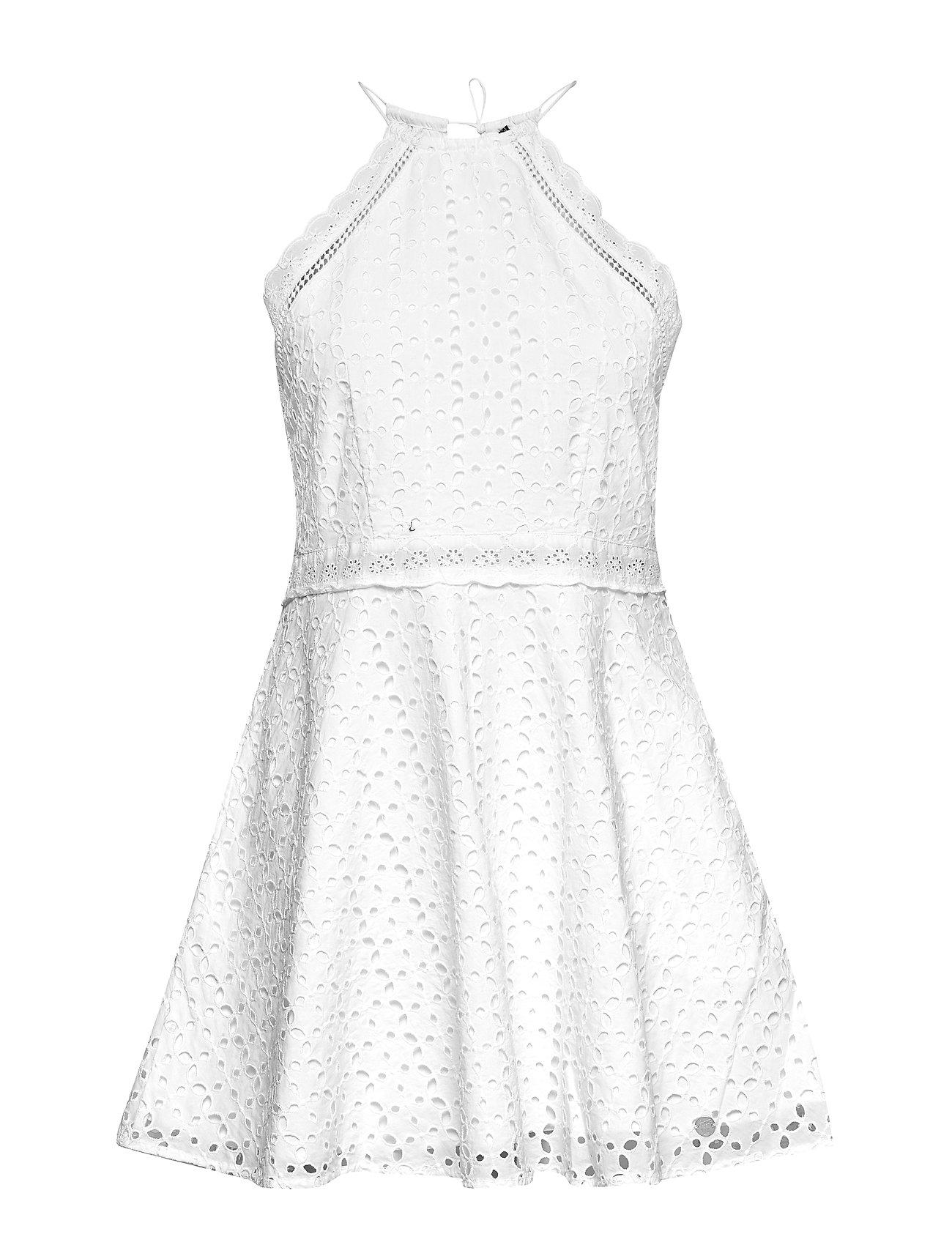 Superdry TEAGAN HALTER DRESS - WHITE