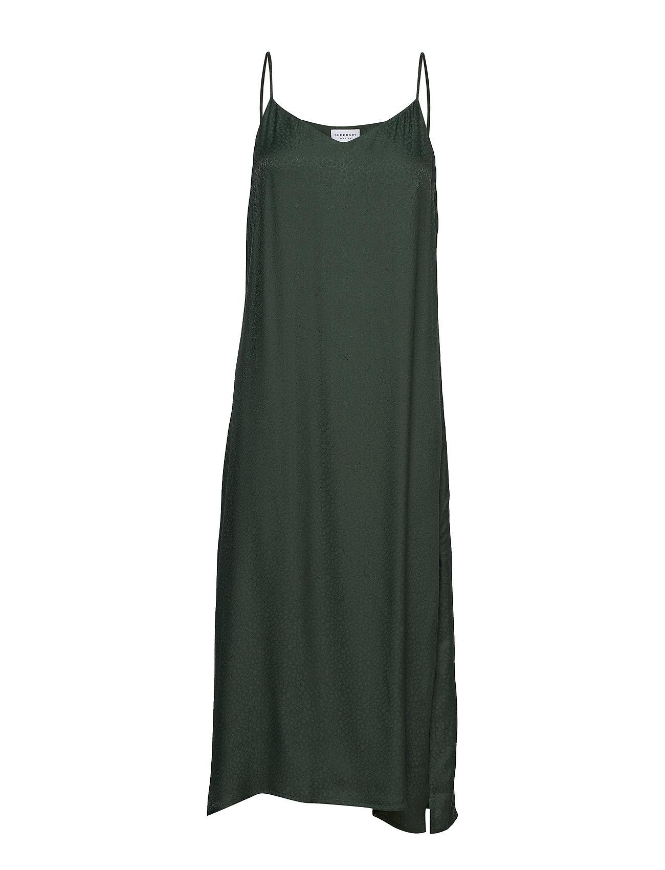 Superdry BIANCA SLIP DRESS - CHIC GREEN