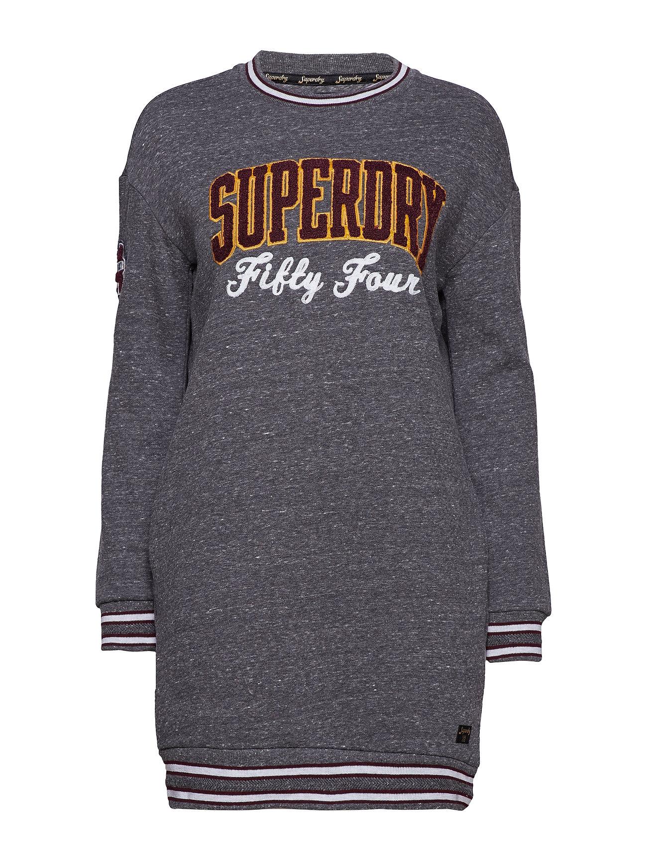 Superdry TORI COLLEGIATE SWEAT DRESS - STONE MARL
