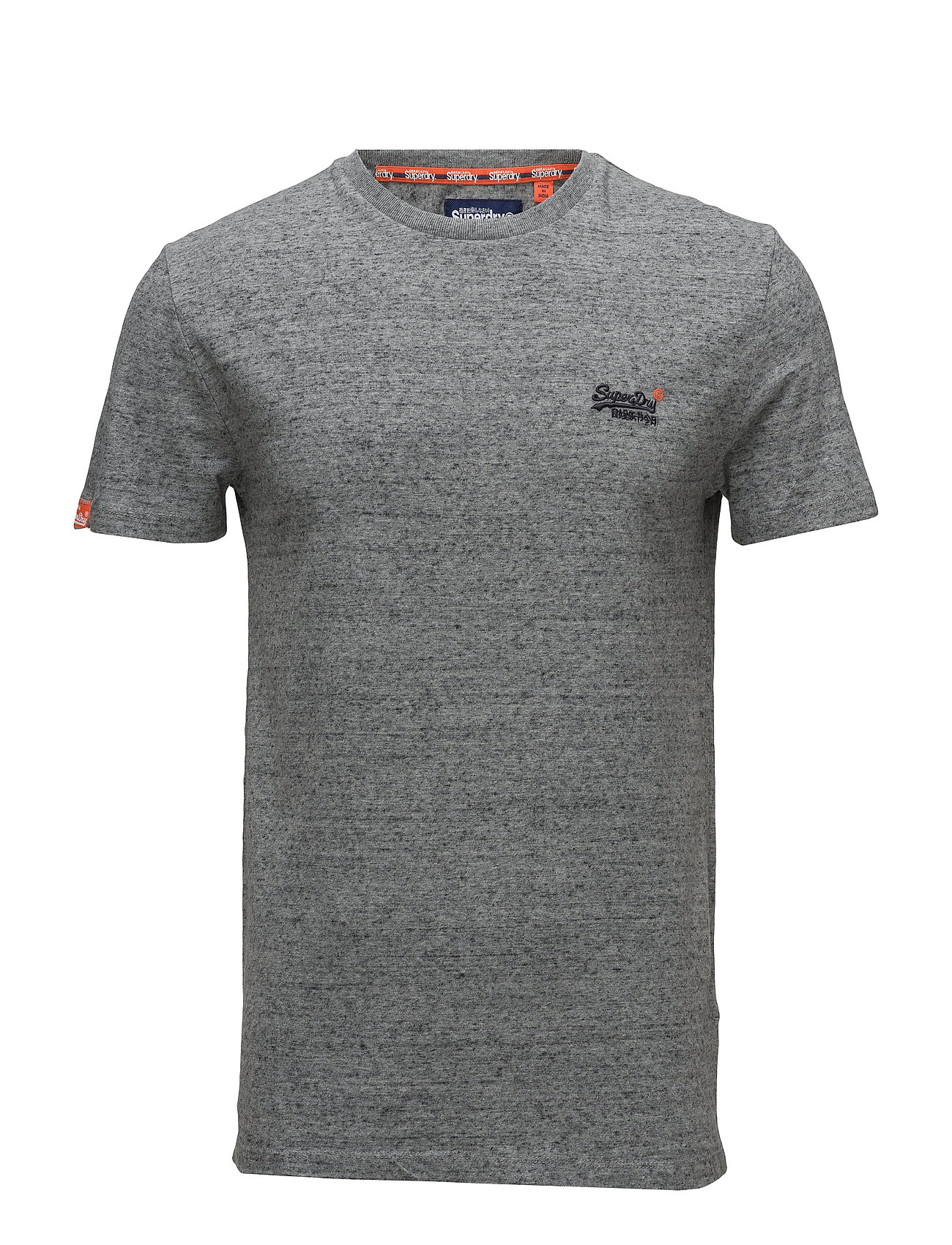 Superdry ORANGE LABEL VNTGE EMB S/S TEE - FLINT STEEL GRIT