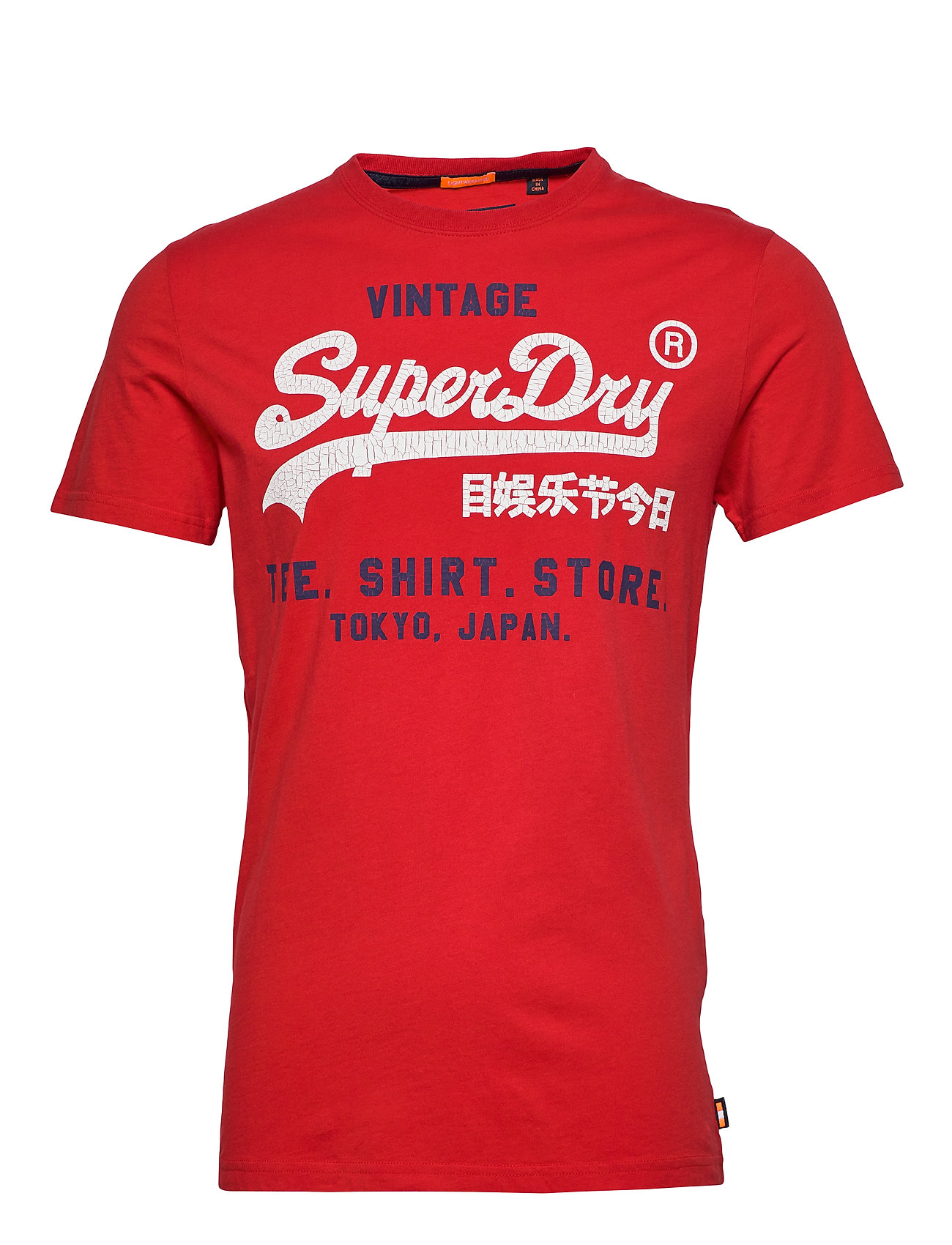 Superdry SHIRT SHOP DUO LITE TEE - YACHT CLUB RED