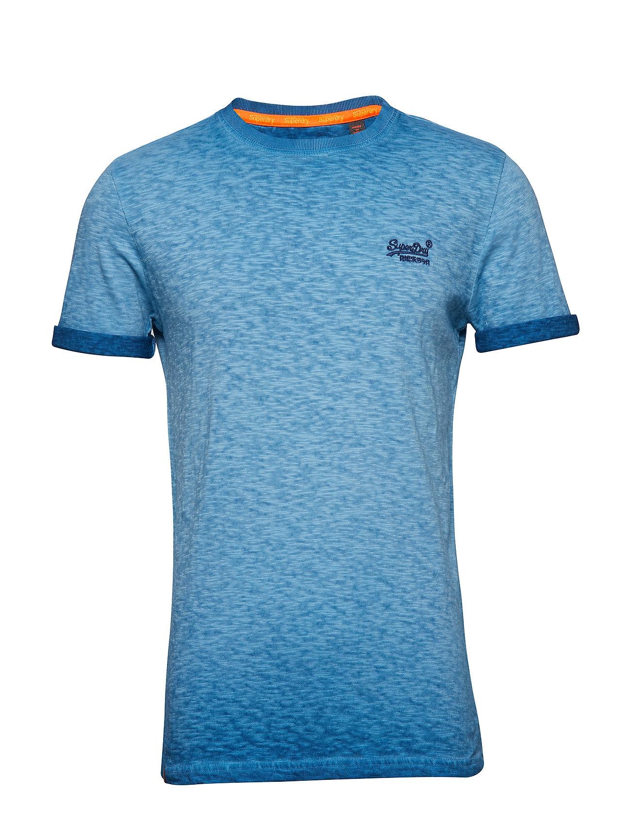 Low Roller Tee T shirt Blå SUPERDRY