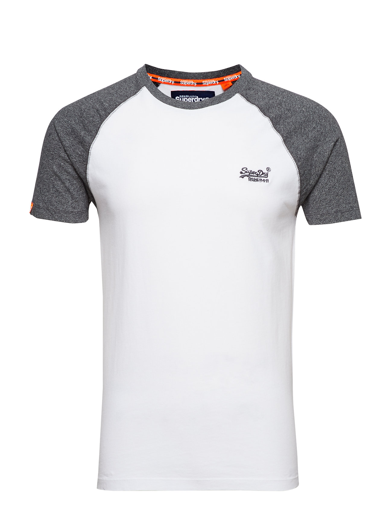 Superdry orange LABEL BASEBALL S S TEE Ögrönlar