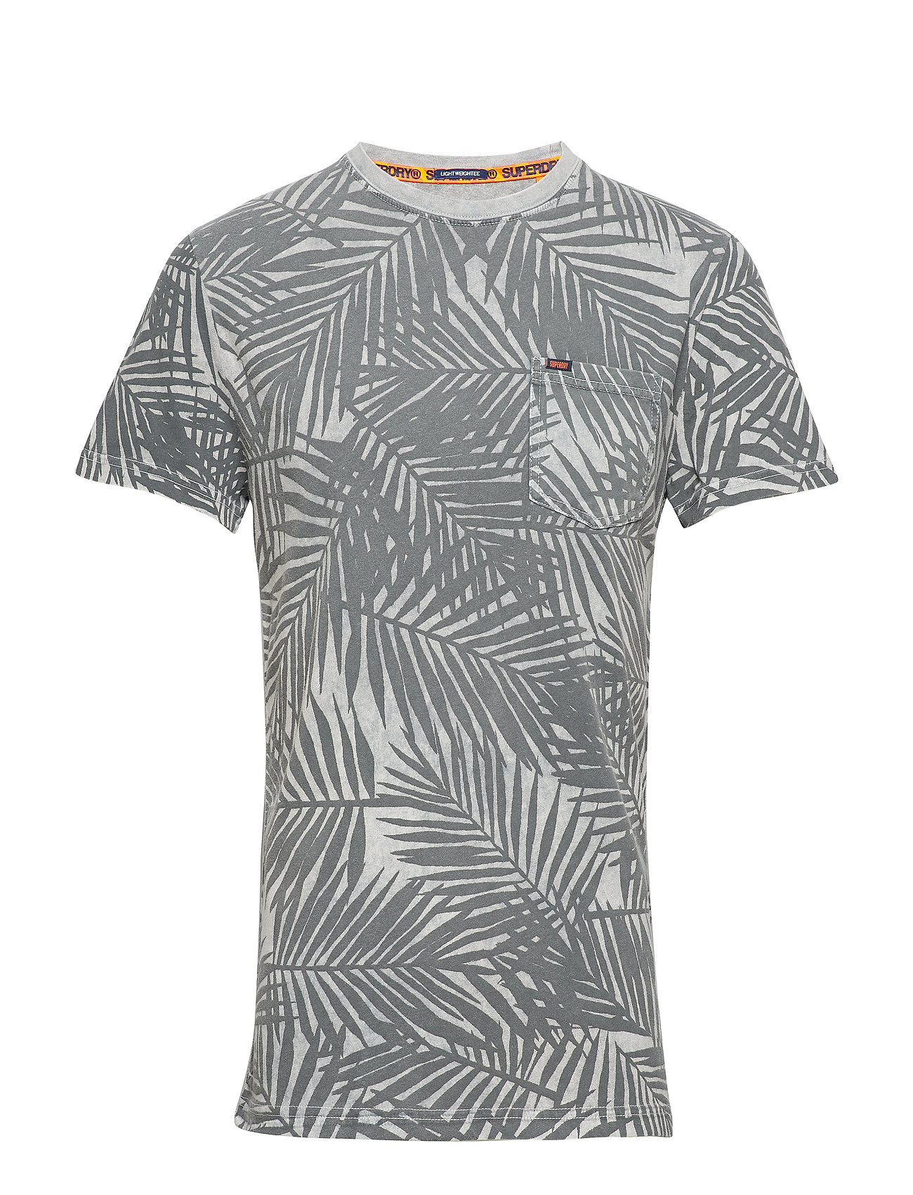 Superdry WHISTLER GEO TEE - WASHED GREY