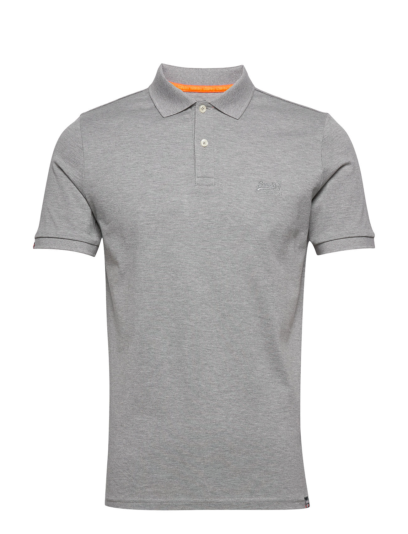 Superdry CLASSIC MICRO LITE PIQUE S/S POLO - GREY MARL