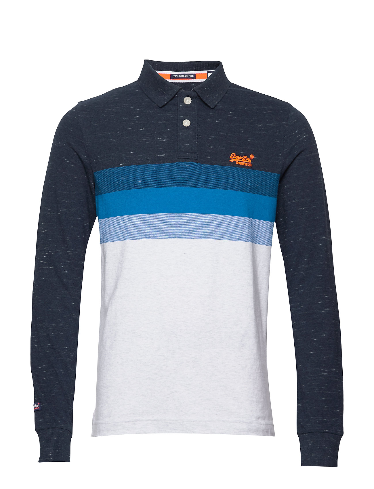 Superdry CLASSIC L/S LONG BEACH POLO - NAVY GRIT