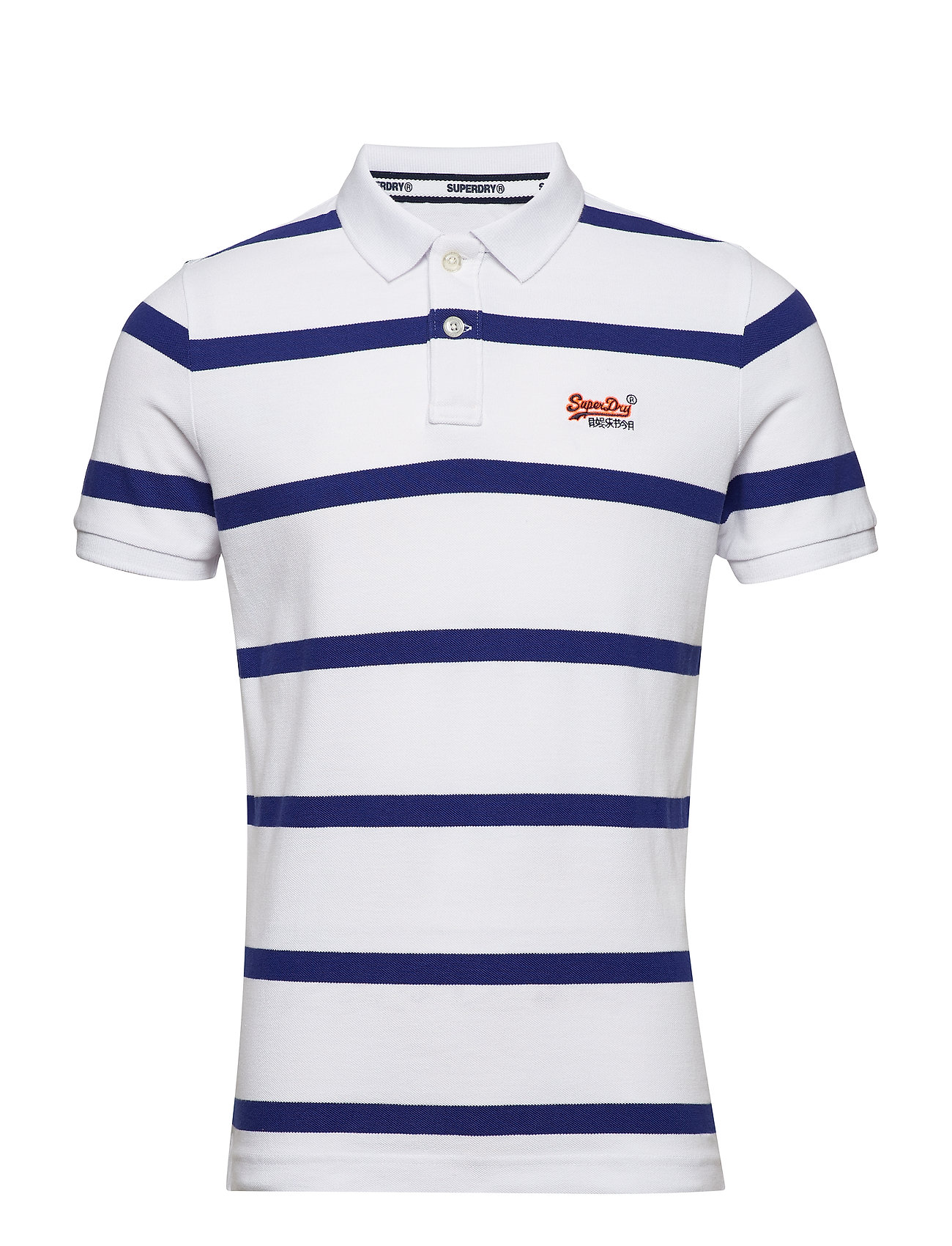 Superdry BEACH VOLLEYBALL POLO - OPTIC/COBALT