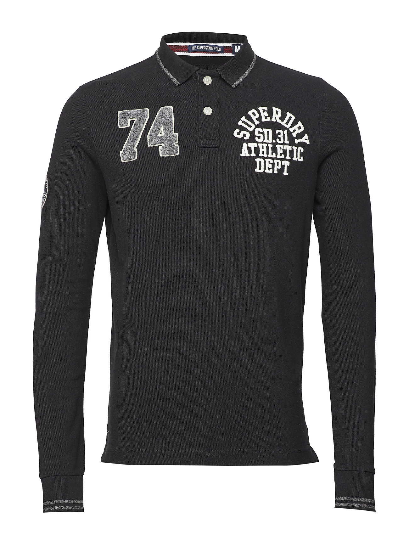 Superdry CLASSIC SUPERSTATE L/S POLO - BLACK