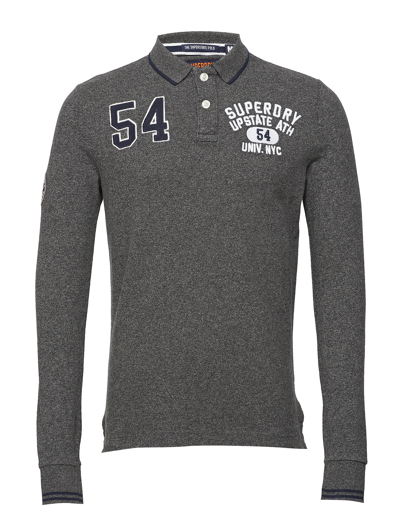 Superdry CLASSIC SUPERSTATE L/S POLO - CINDER GREY GRIT
