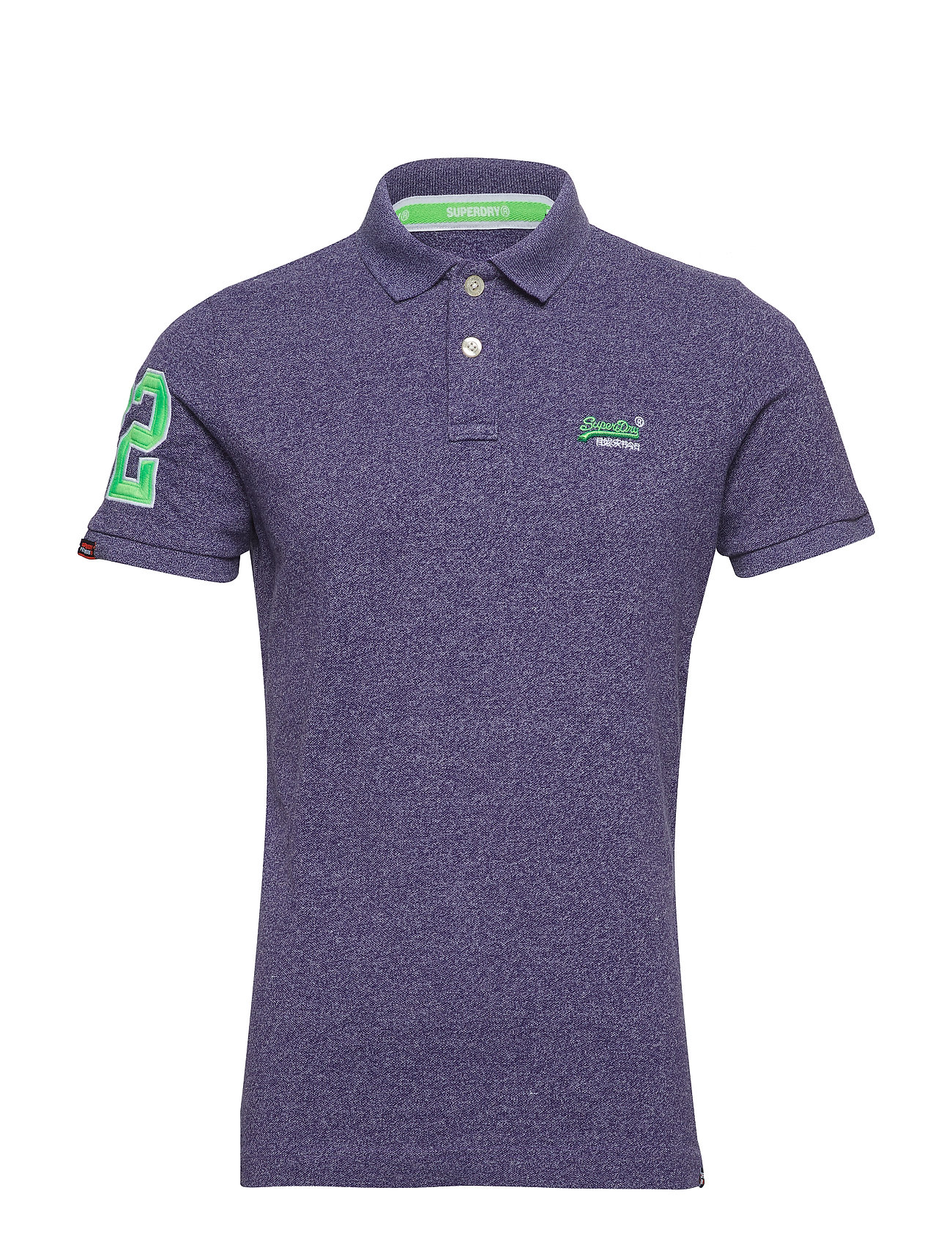 Superdry CLASSIC PIQUE POLO - WINTER PURPLE GRIT