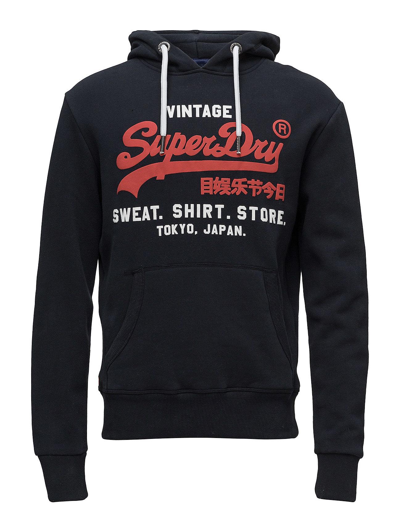 Superdry SWEAT SHIRT SHOP DUO HOOD - ECLIPSE NAVY