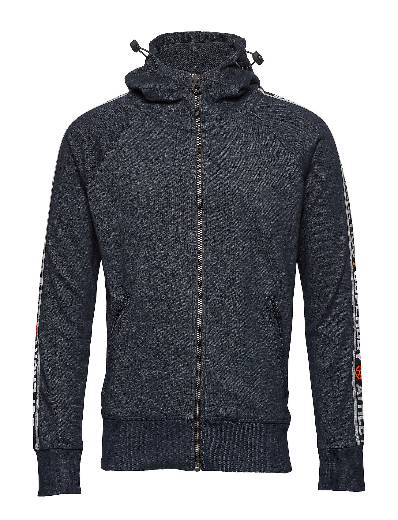 Superdry SUPERDRY STADIUM ZIPHOOD - SUPERDRY STADIUM NAVY GRIT