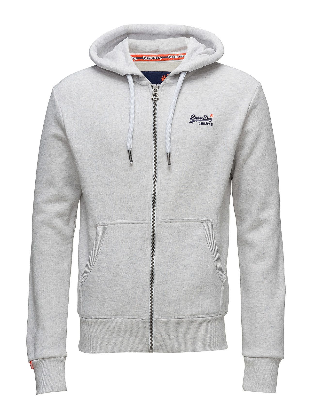 Superdry ORANGE LABEL ZIPHOOD - ICE MARL