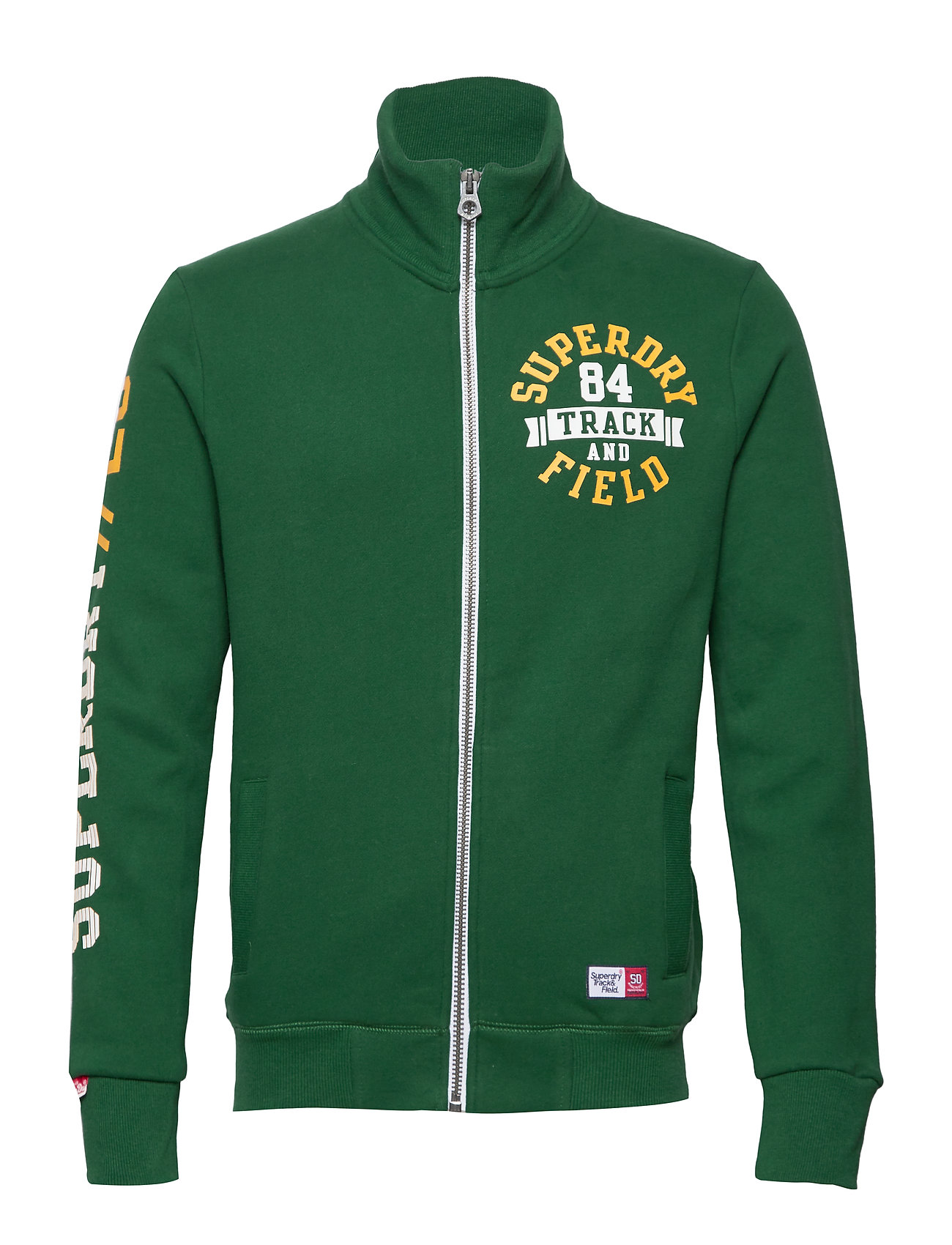 Superdry TRACKSTER TRACK TOP - TRACK GREEN