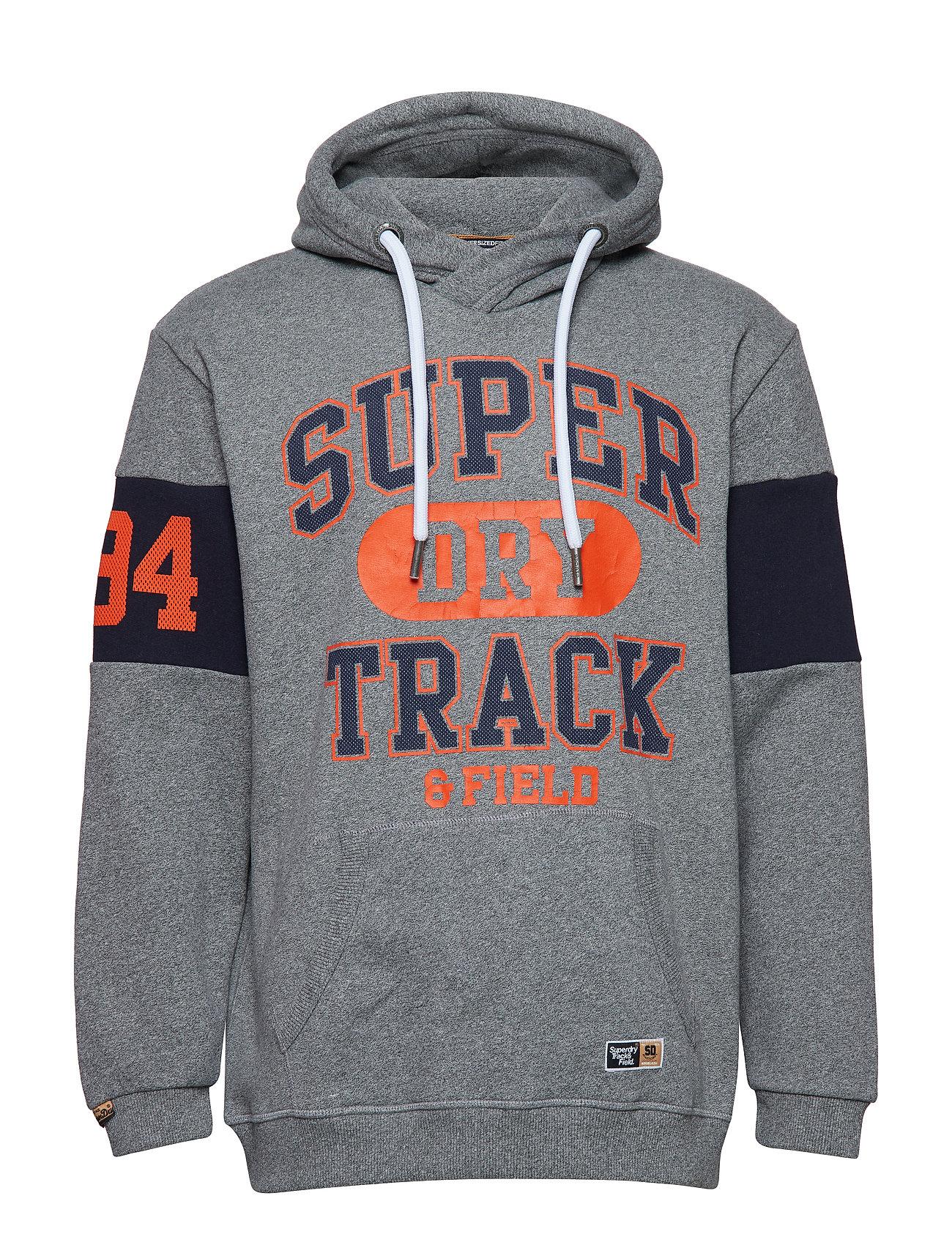 Hoodpodium Mid Grey GritSuperdry Track Super Oversized SLzMUpqGV